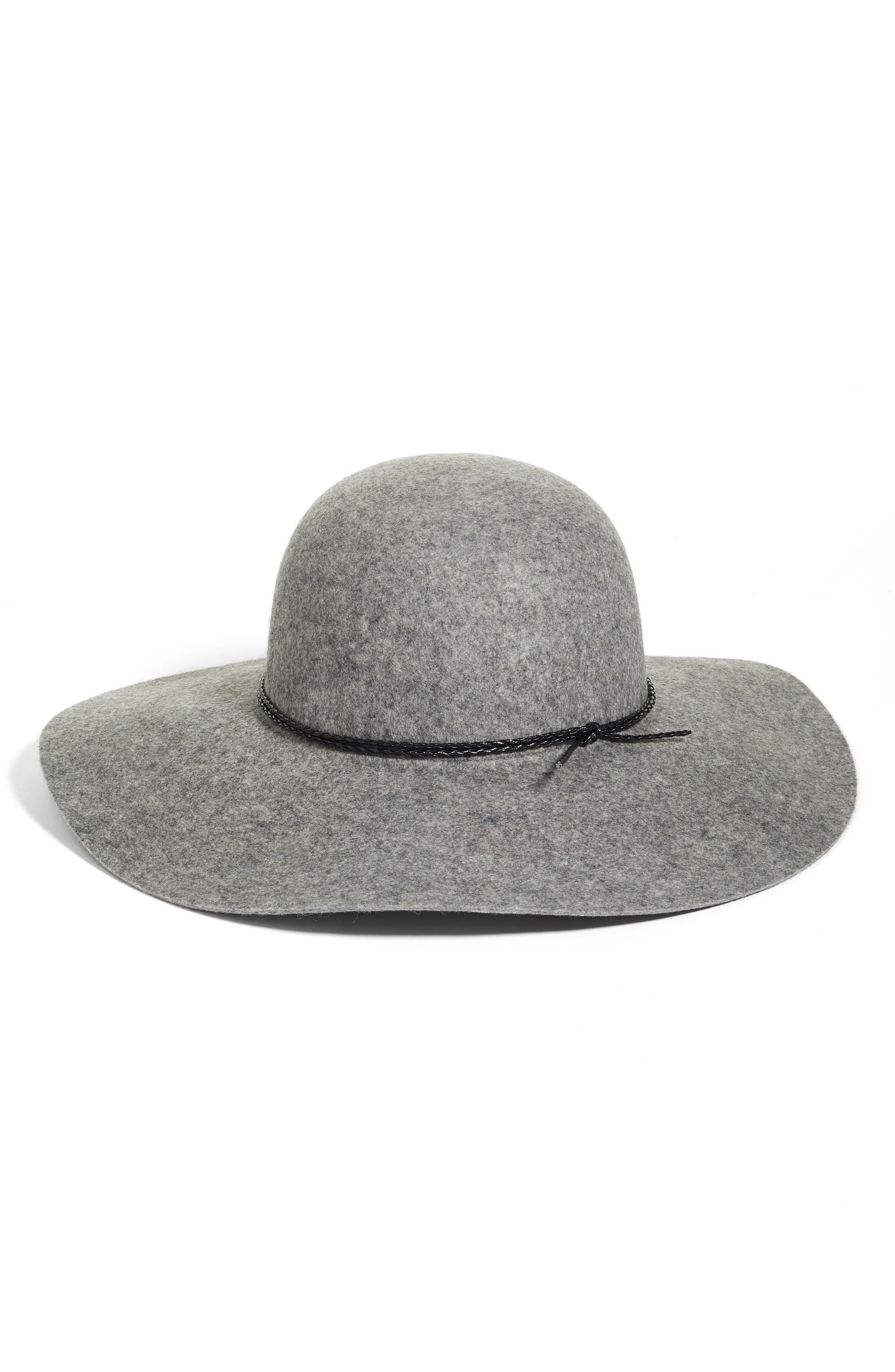 Wool Floppy Hat,                             Main thumbnail 1, color,                             Grey Light Heather