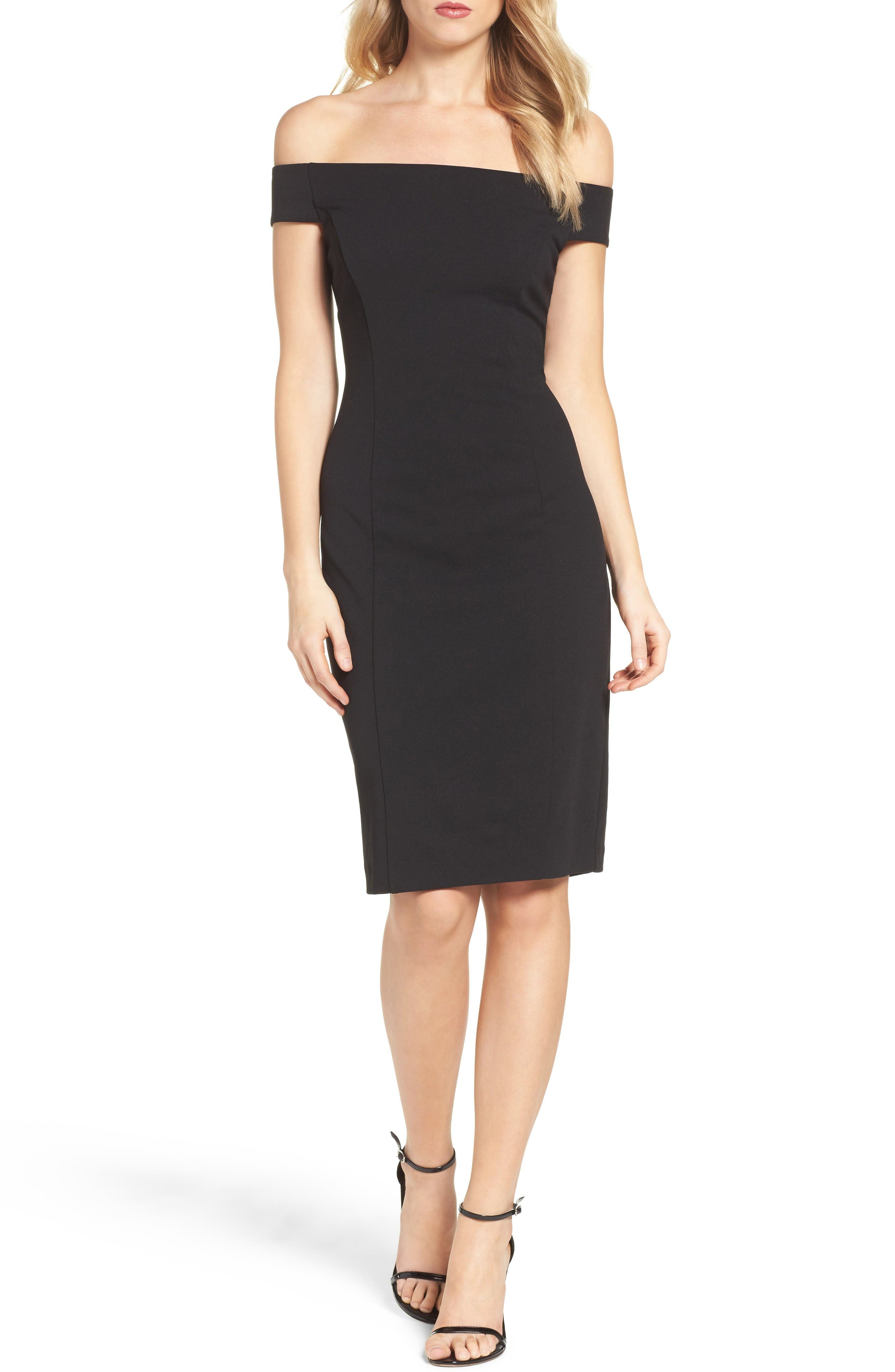 Alternate Image 4  - Vince Camuto Crepe Sheath Dress (Regular & Petite)