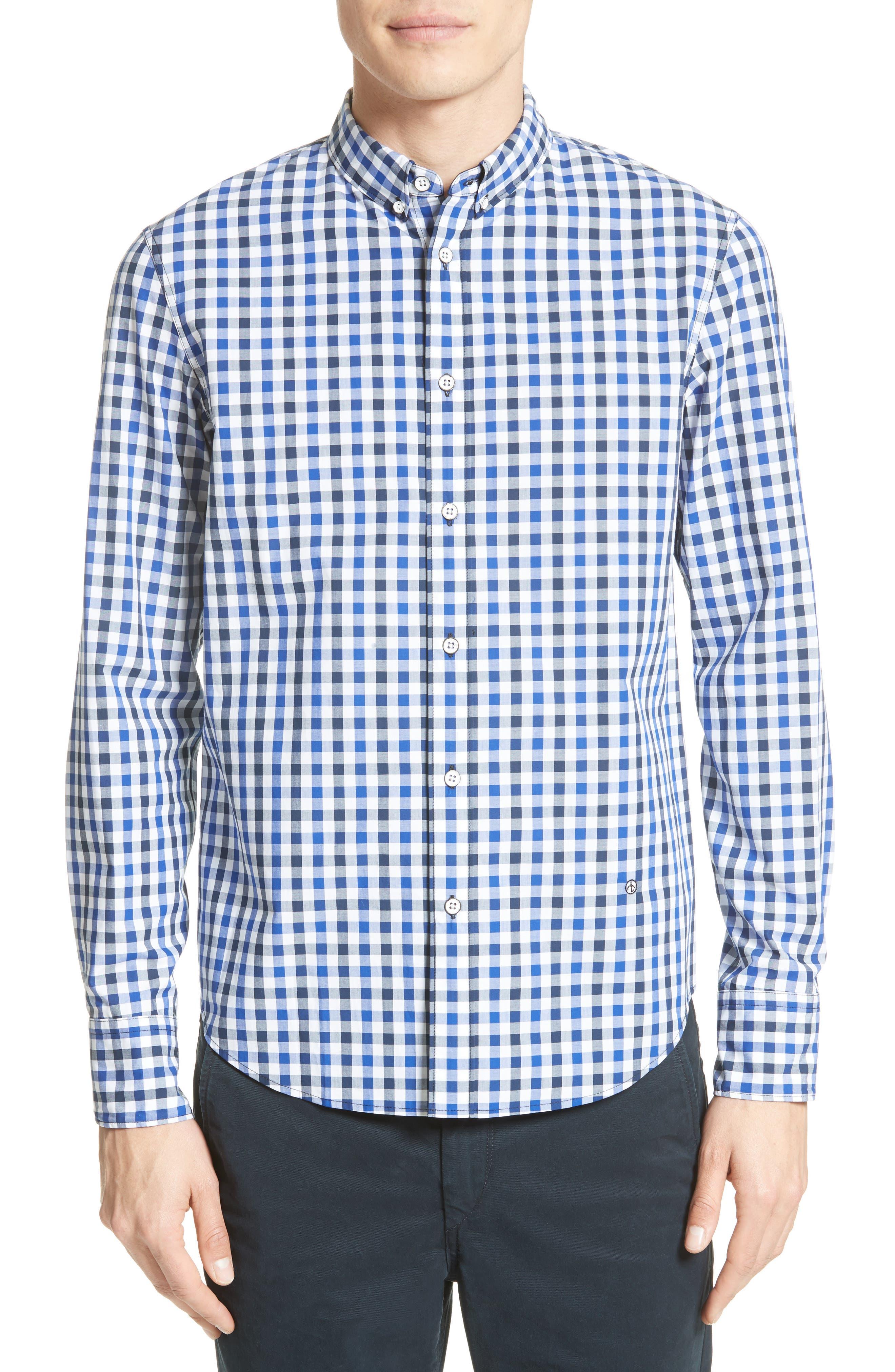 Tomlin Check Sport Shirt,                             Main thumbnail 1, color,                             Navy Check