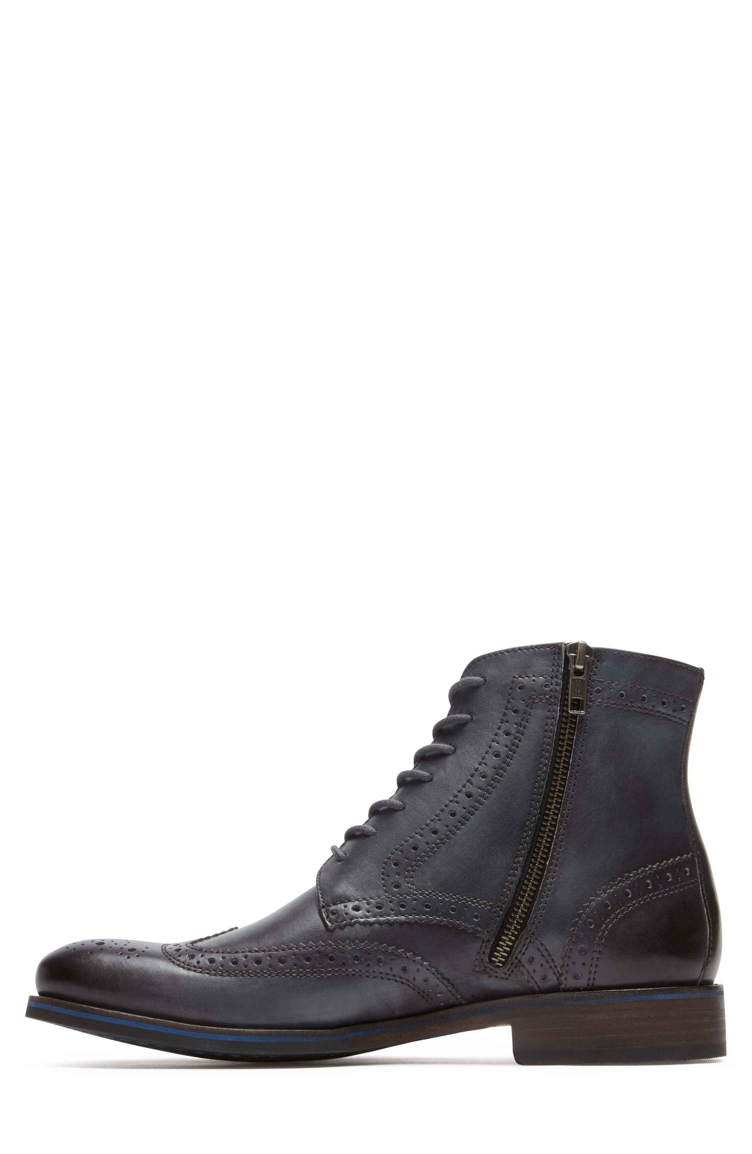 Wyat Wingtip Boot,                             Alternate thumbnail 2, color,                             Dark Shadow Leather