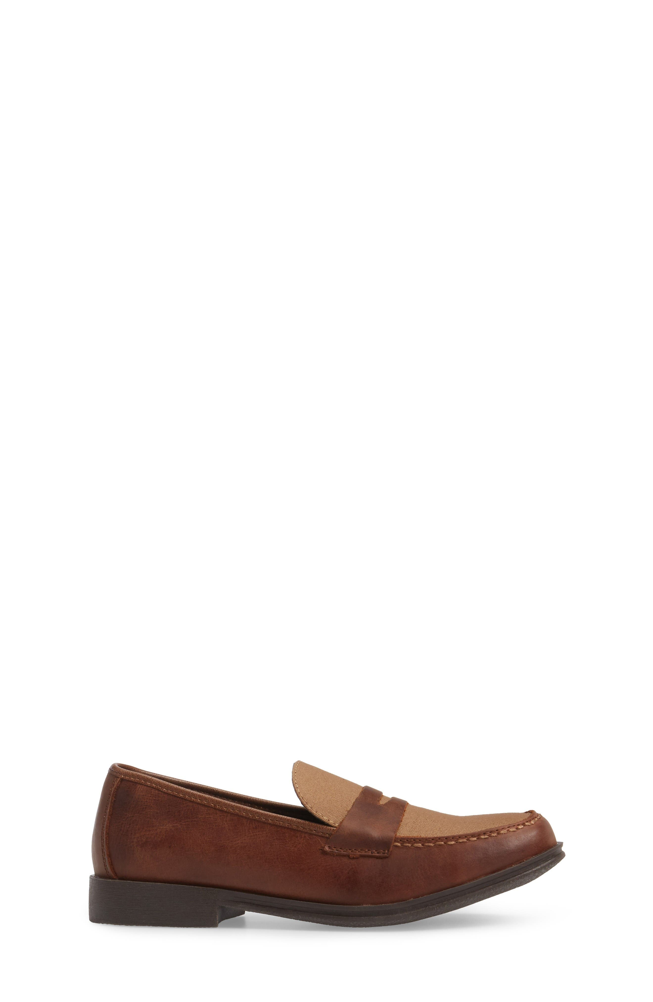Club Loft Loafer,                             Alternate thumbnail 3, color,                             Tan/ Brown Leather