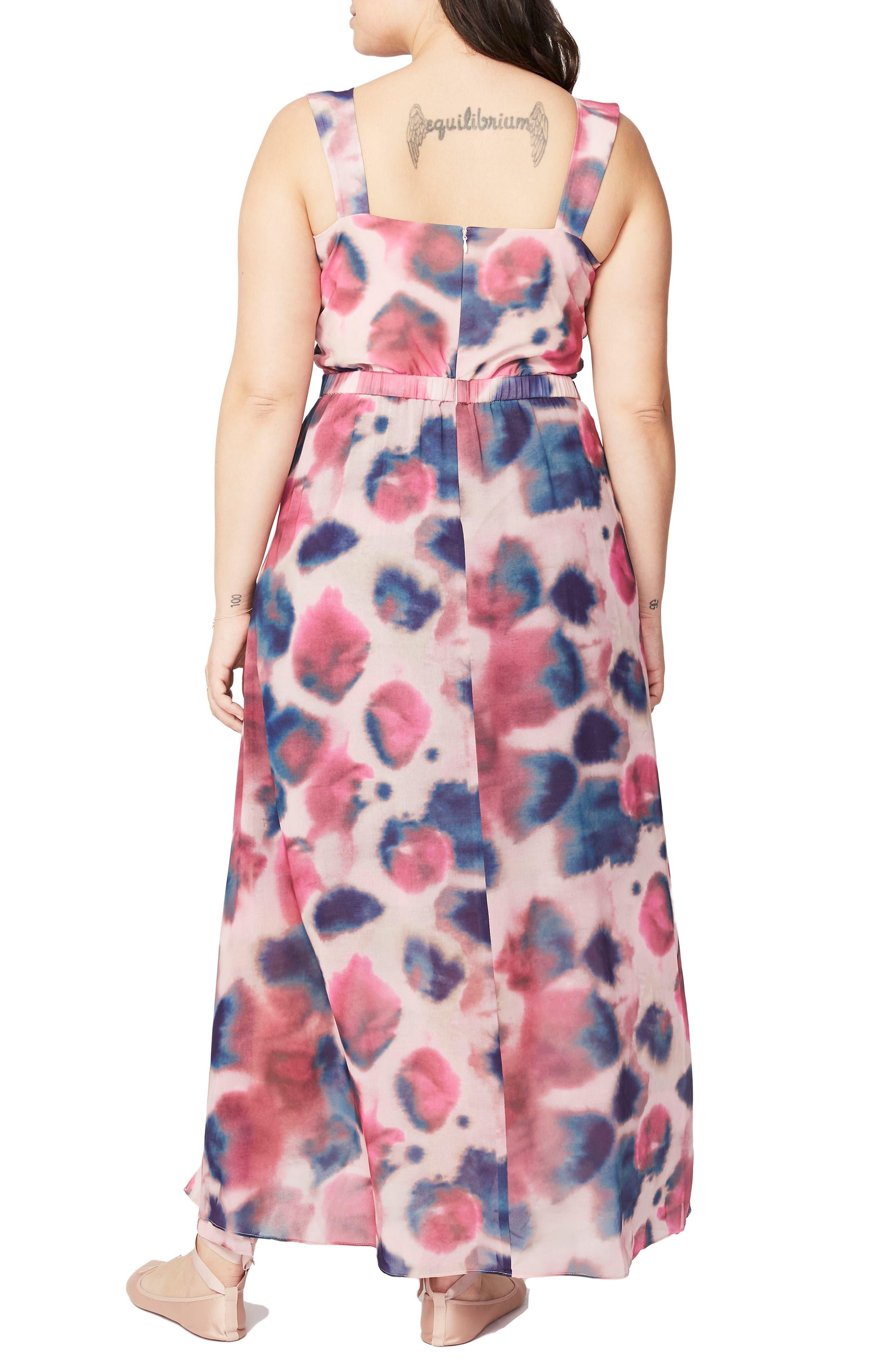 Rachel Roy Faux Wrap Maxi Dress,                             Alternate thumbnail 2, color,                             Rainbow Combo