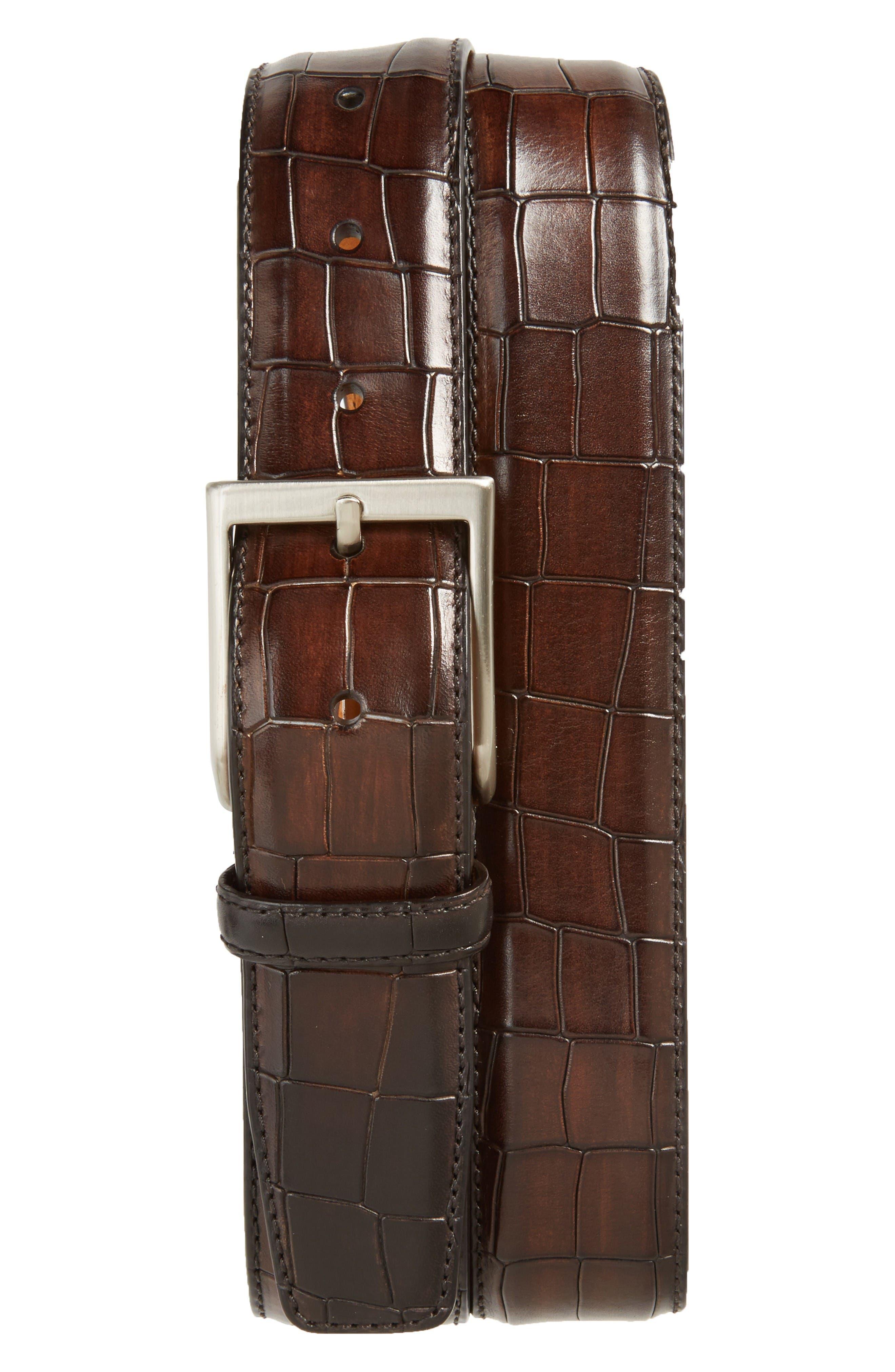 Alternate Image 1 Selected - Magnanni Leather Belt