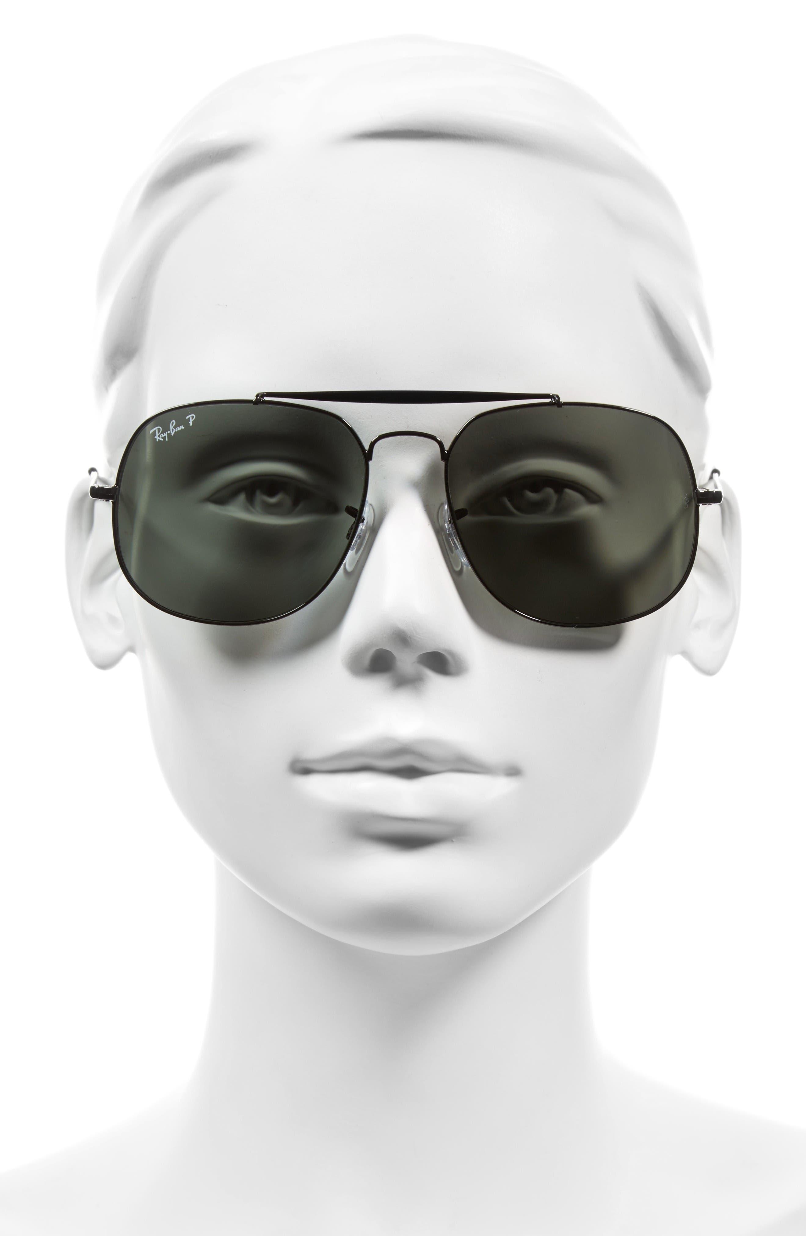 Alternate Image 2  - Ray-Ban 57mm Polarized Aviator Sunglasses