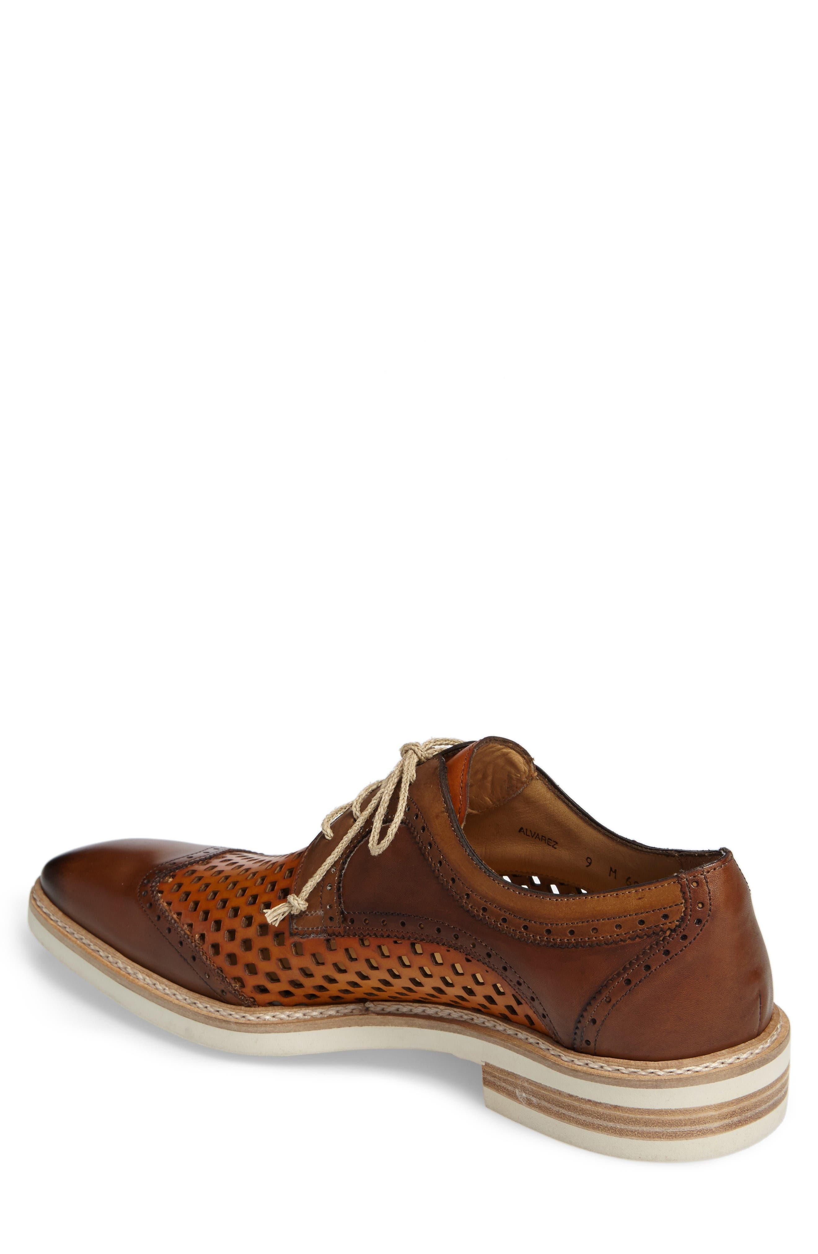 Alvarez Spectator Shoe,                             Alternate thumbnail 2, color,                             Cognac Multi Leather