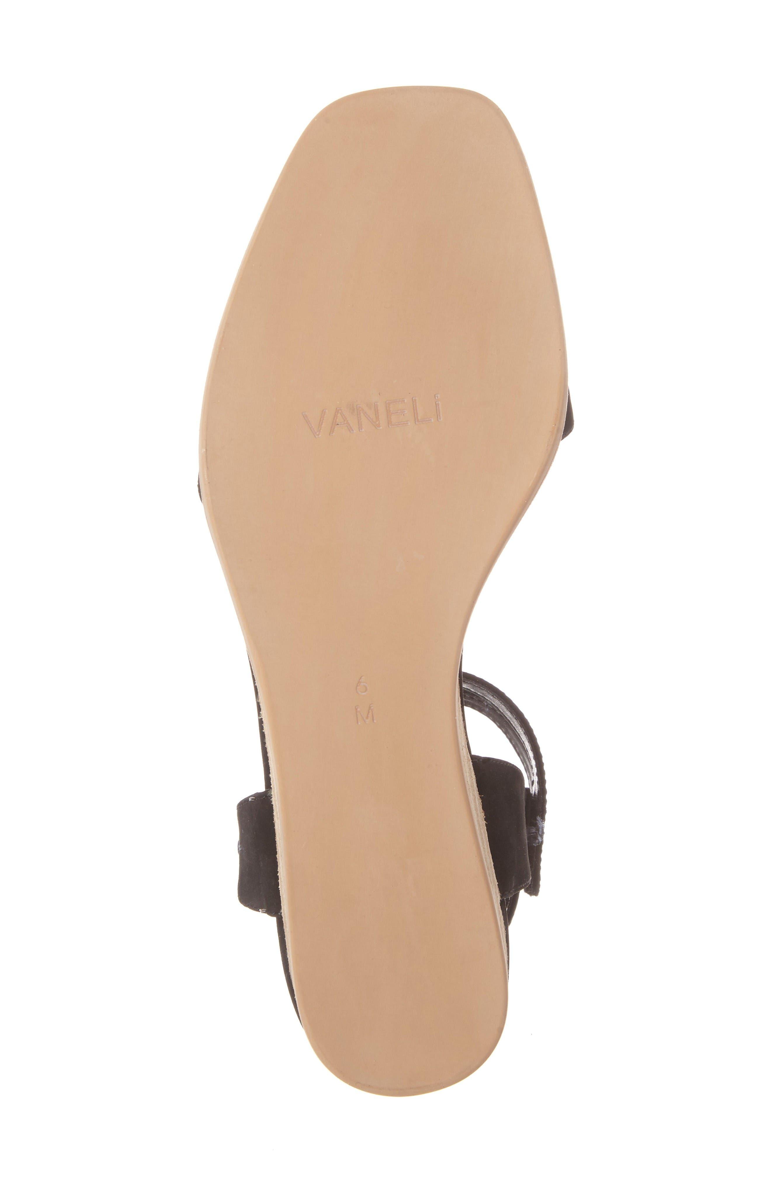 Jarita Ankle Strap Sandal,                             Alternate thumbnail 6, color,                             Black Leather