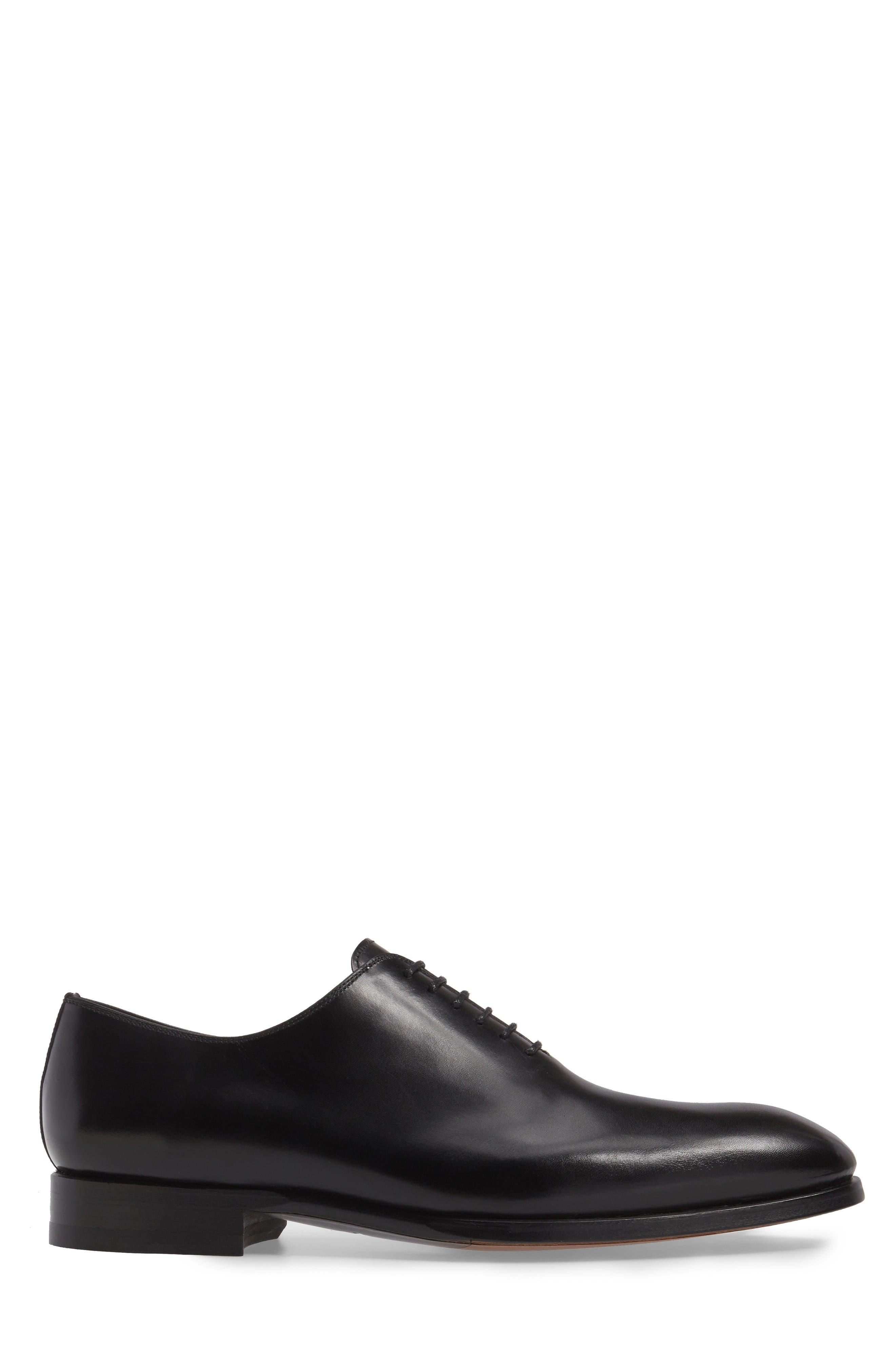 Montay Wholecut Oxford,                             Alternate thumbnail 3, color,                             Black Leather