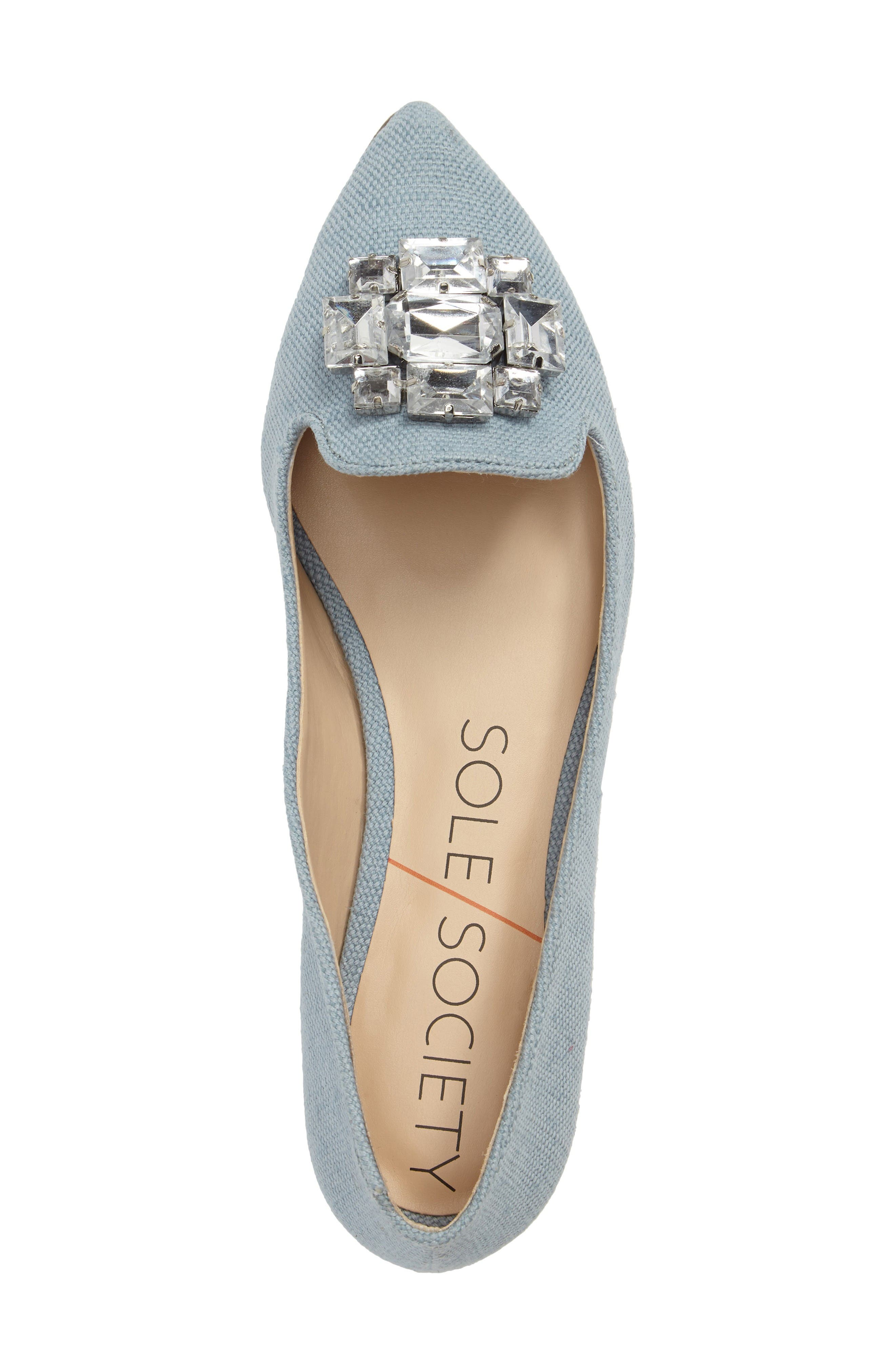 Alternate Image 5  - Sole Society 'Libry' Embellished Pointy Toe Flat (Women)