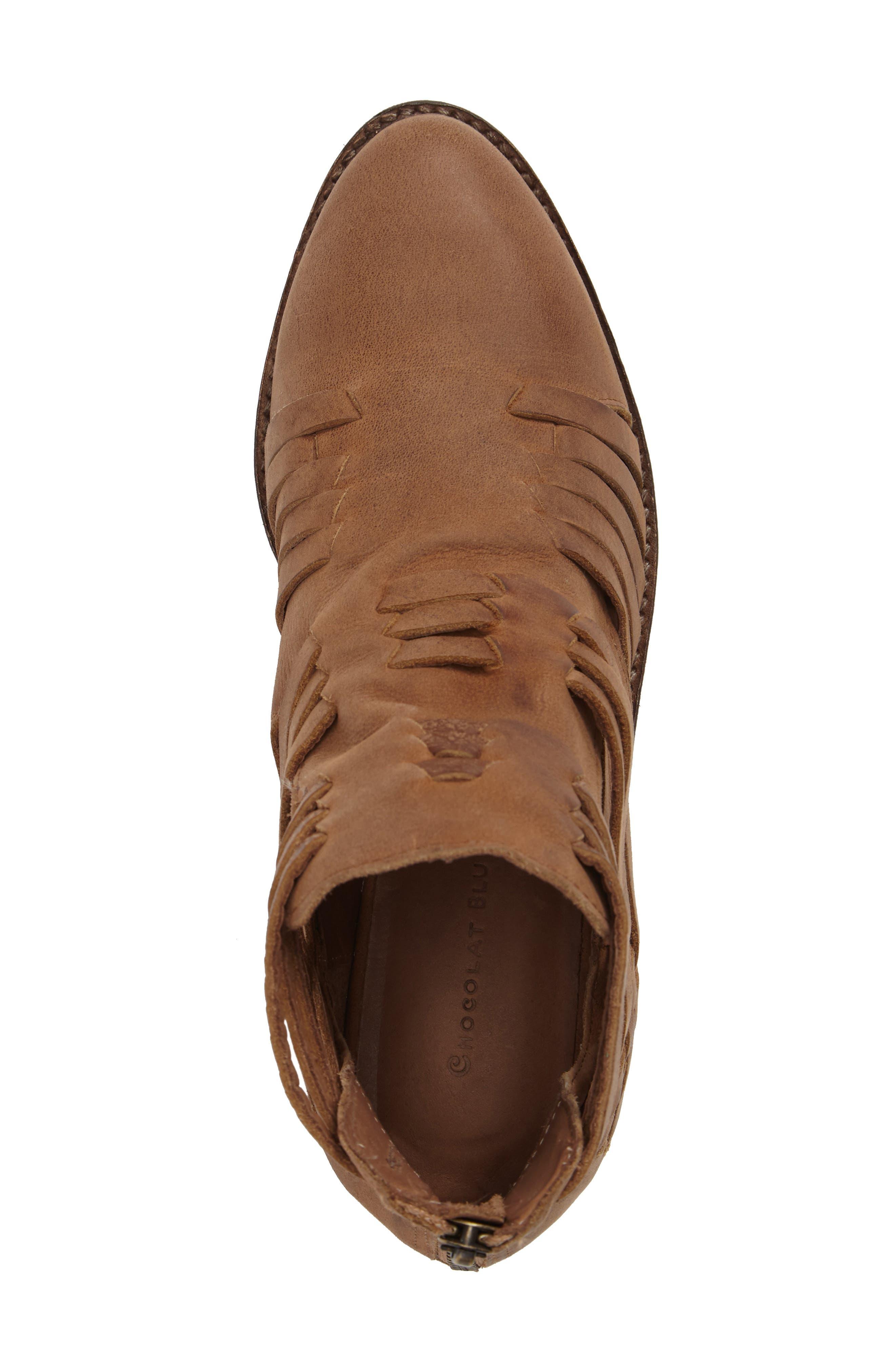 Fairuz Bootie,                             Alternate thumbnail 5, color,                             Tan Leather