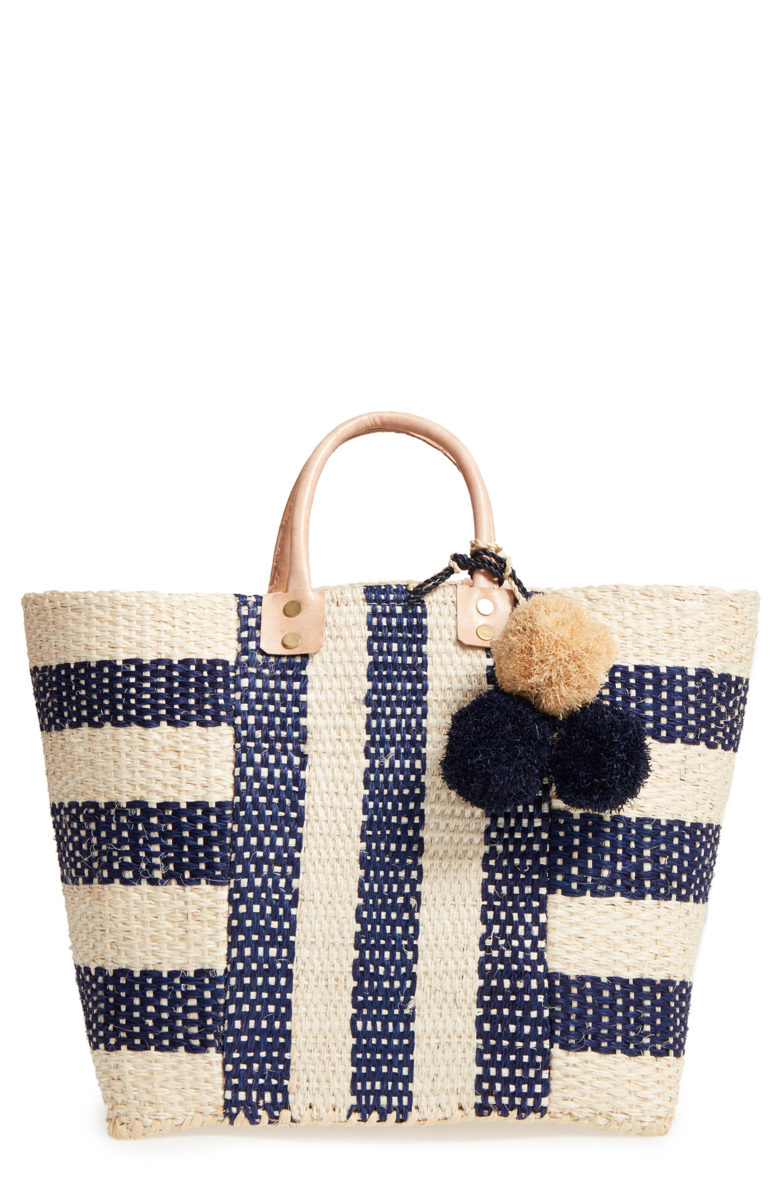 'Collins' Woven Tote,                         Main,                         color, Navy