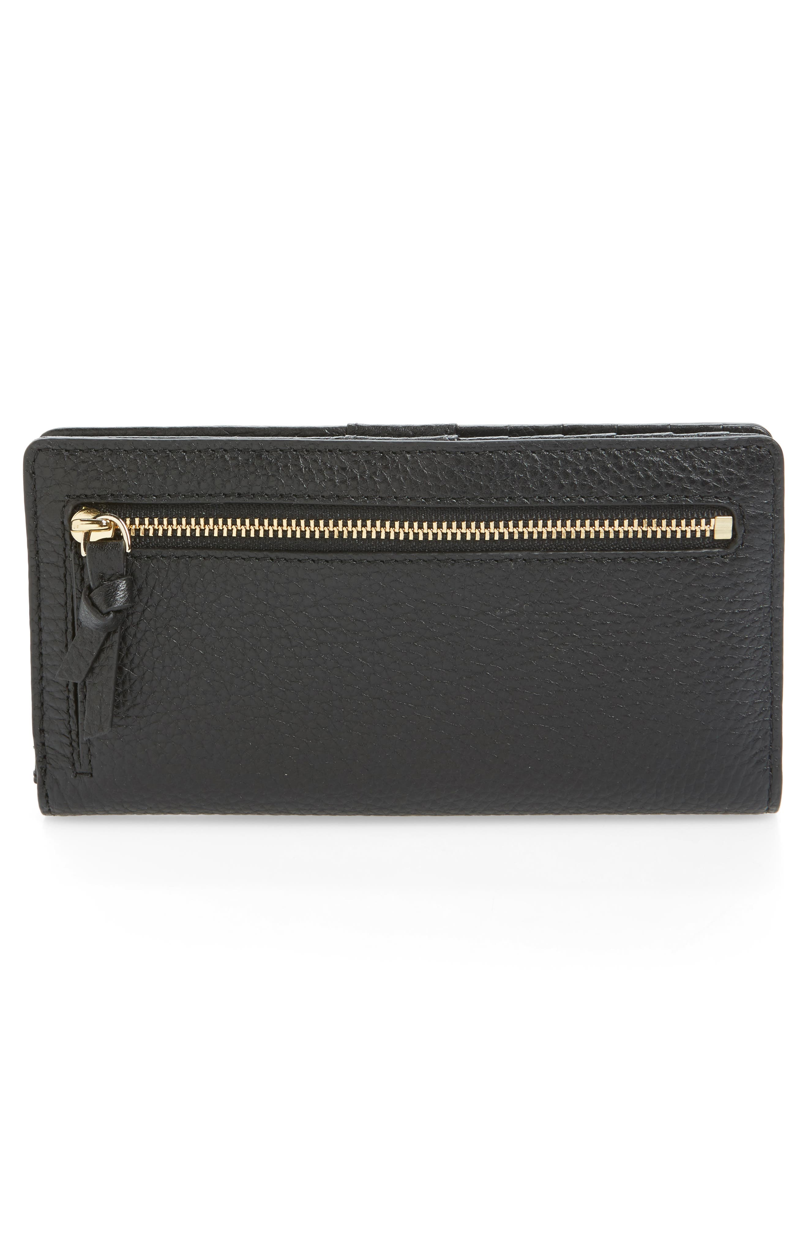 jackson street stacy leather wallet,                             Alternate thumbnail 4, color,                             Black
