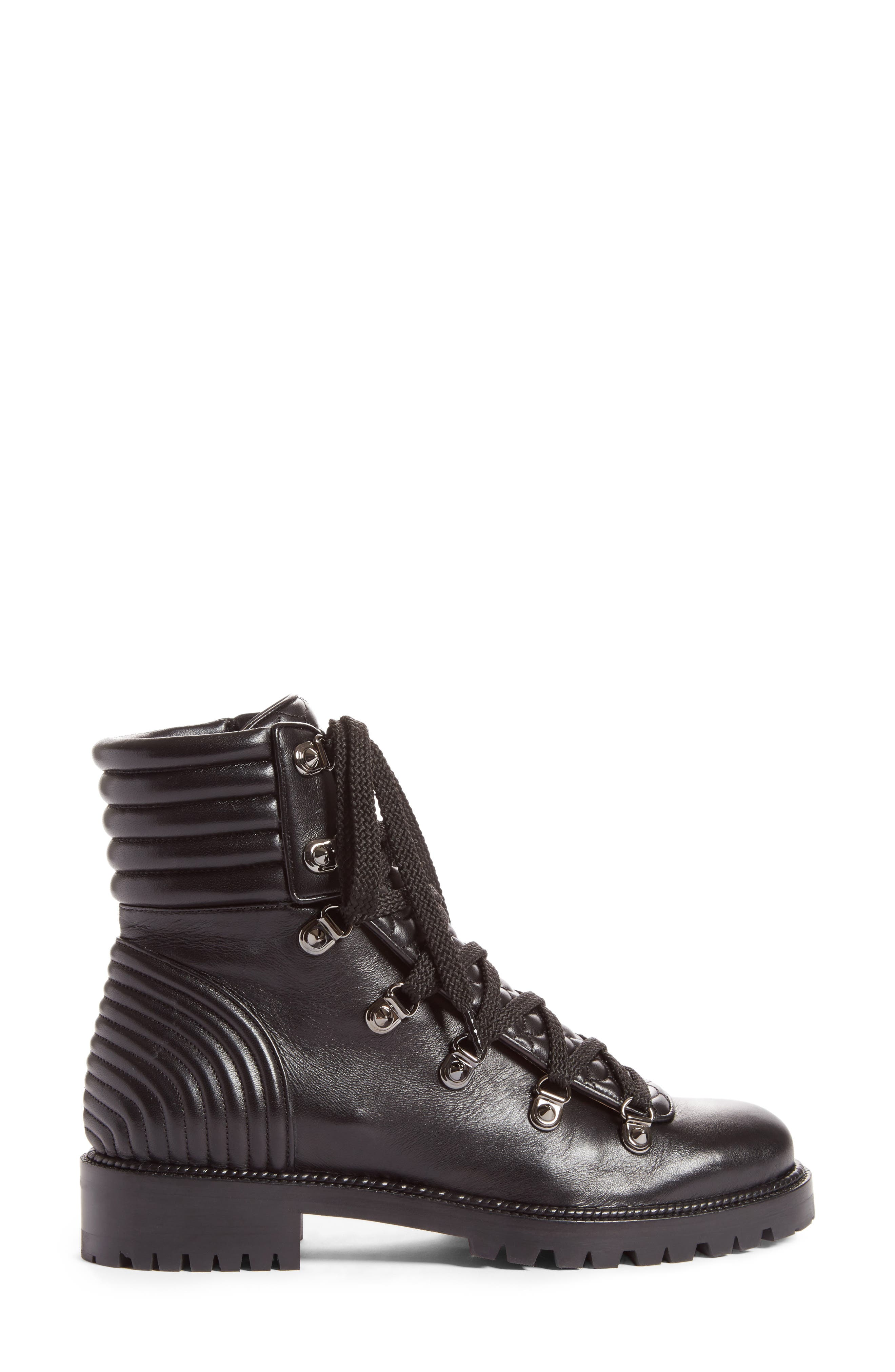 Mad Combat Boot,                             Alternate thumbnail 4, color,                             Black Leather