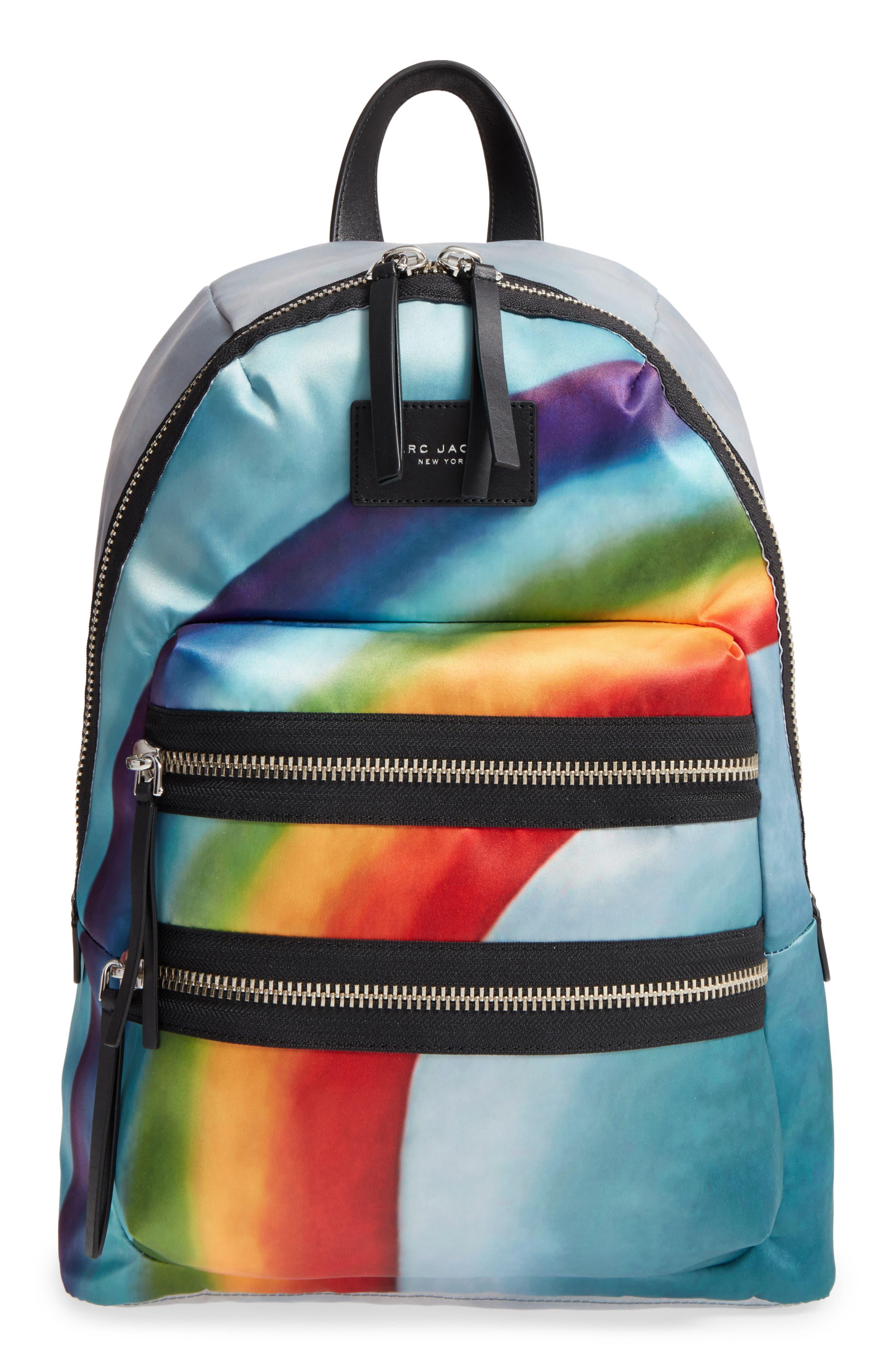 Alternate Image 1 Selected - MARC JACOBS Biker Rainbow Print Backpack