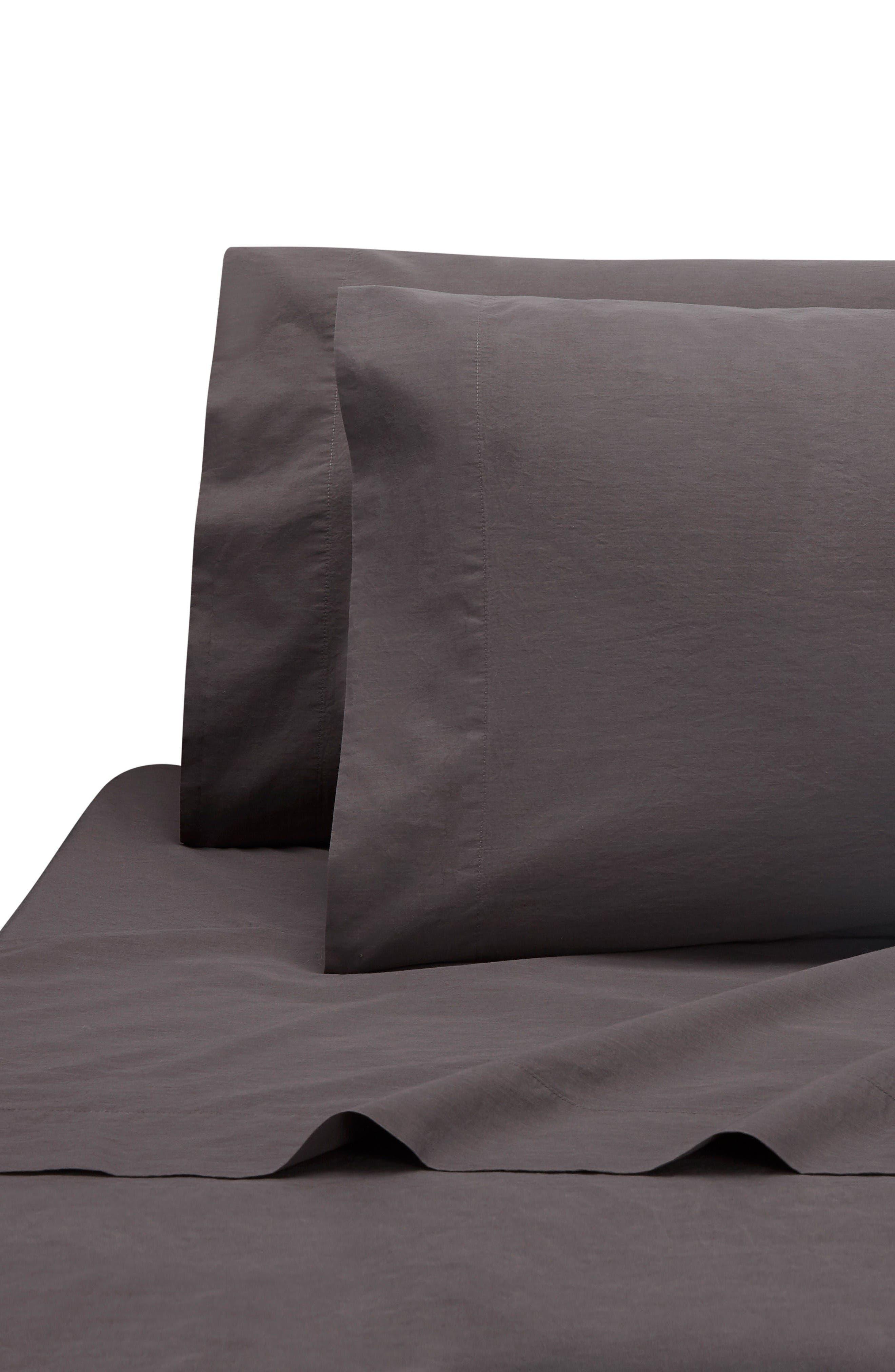 Lorimer 300 Thread Count Tencel<sup>®</sup> Percale Pillowcases,                             Main thumbnail 1, color,                             Coal