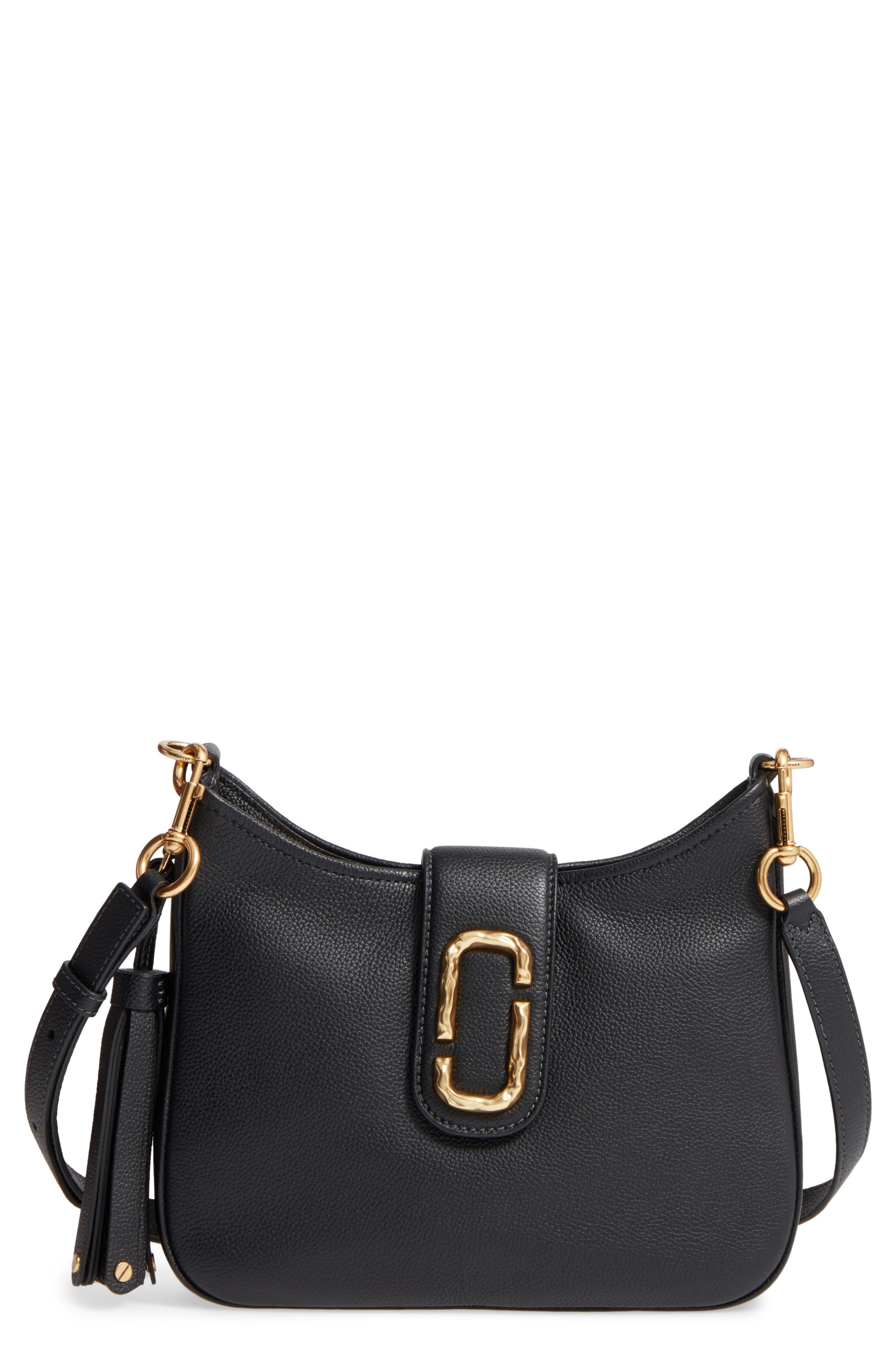 Alternate Image 1 Selected - MARC JACOBS Small Interlock Leather Hobo