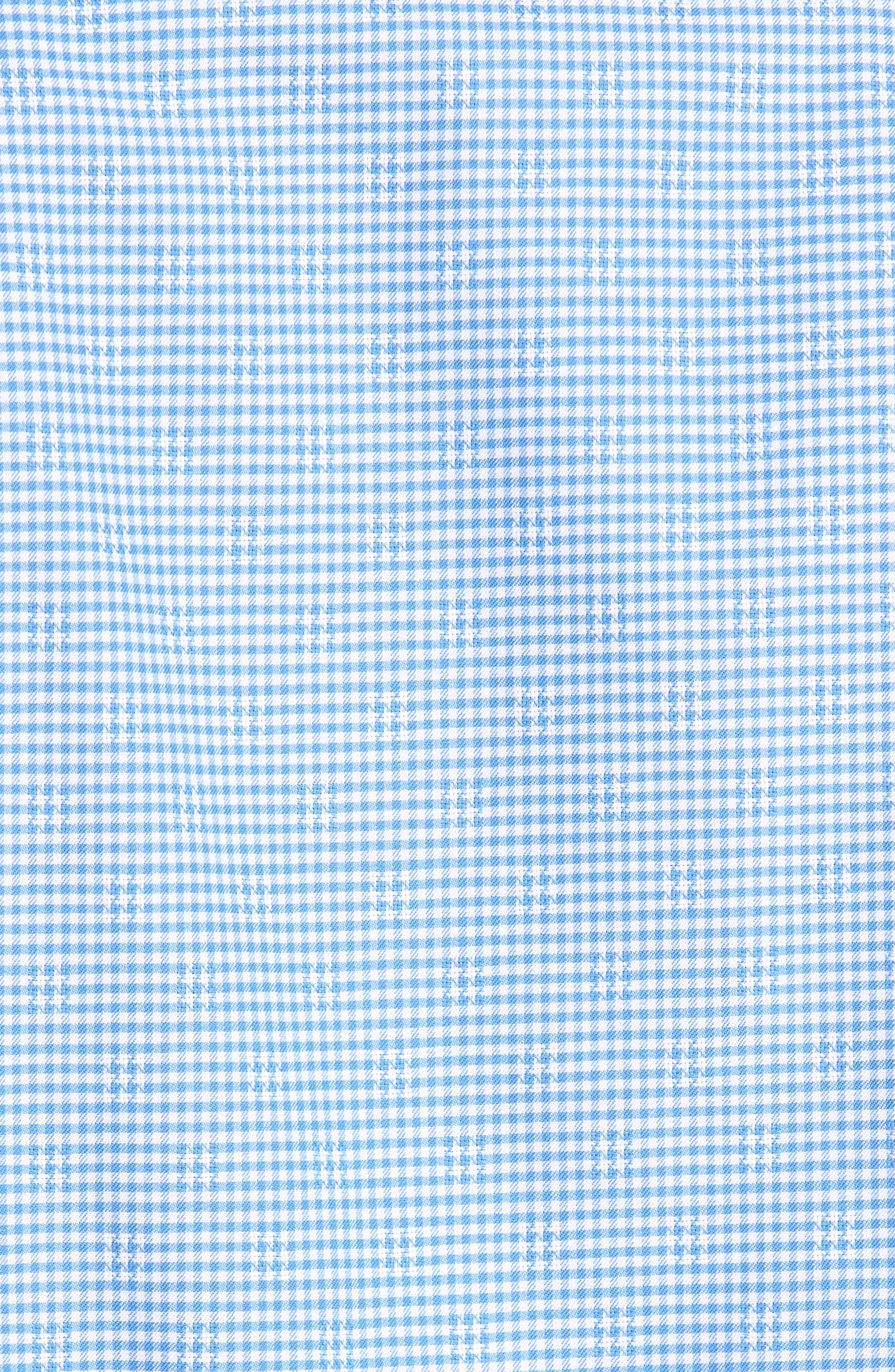 Classic Fit Mini Check Sport Shirt,                             Alternate thumbnail 5, color,                             Blue