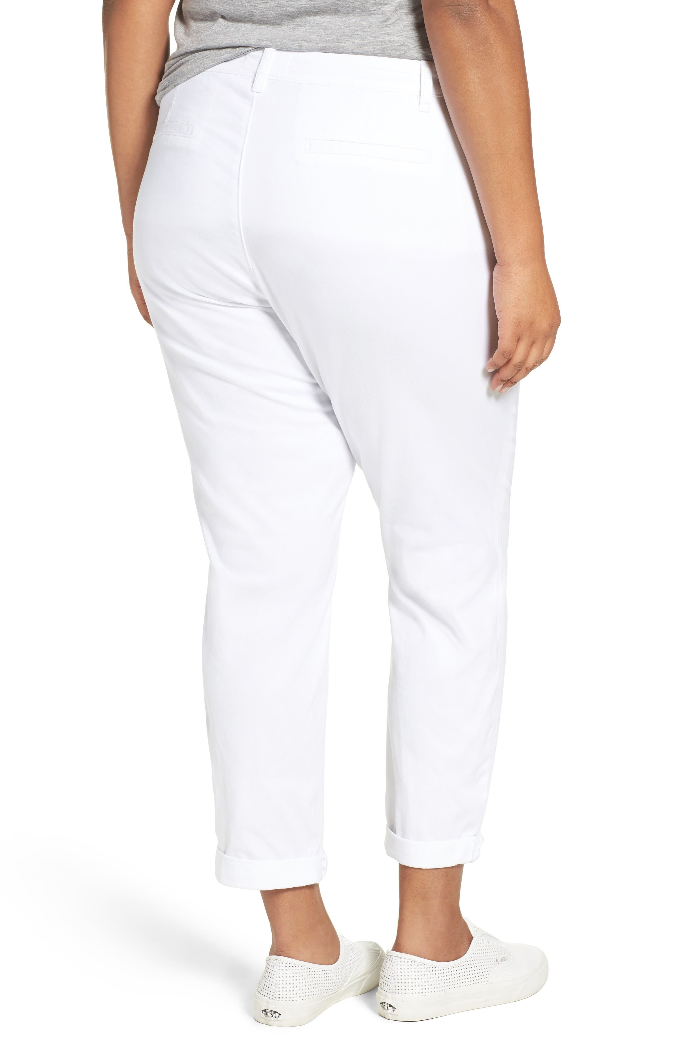 Alternate Image 2  - Sejour Stretch Cotton Ankle Pants (Plus Size)