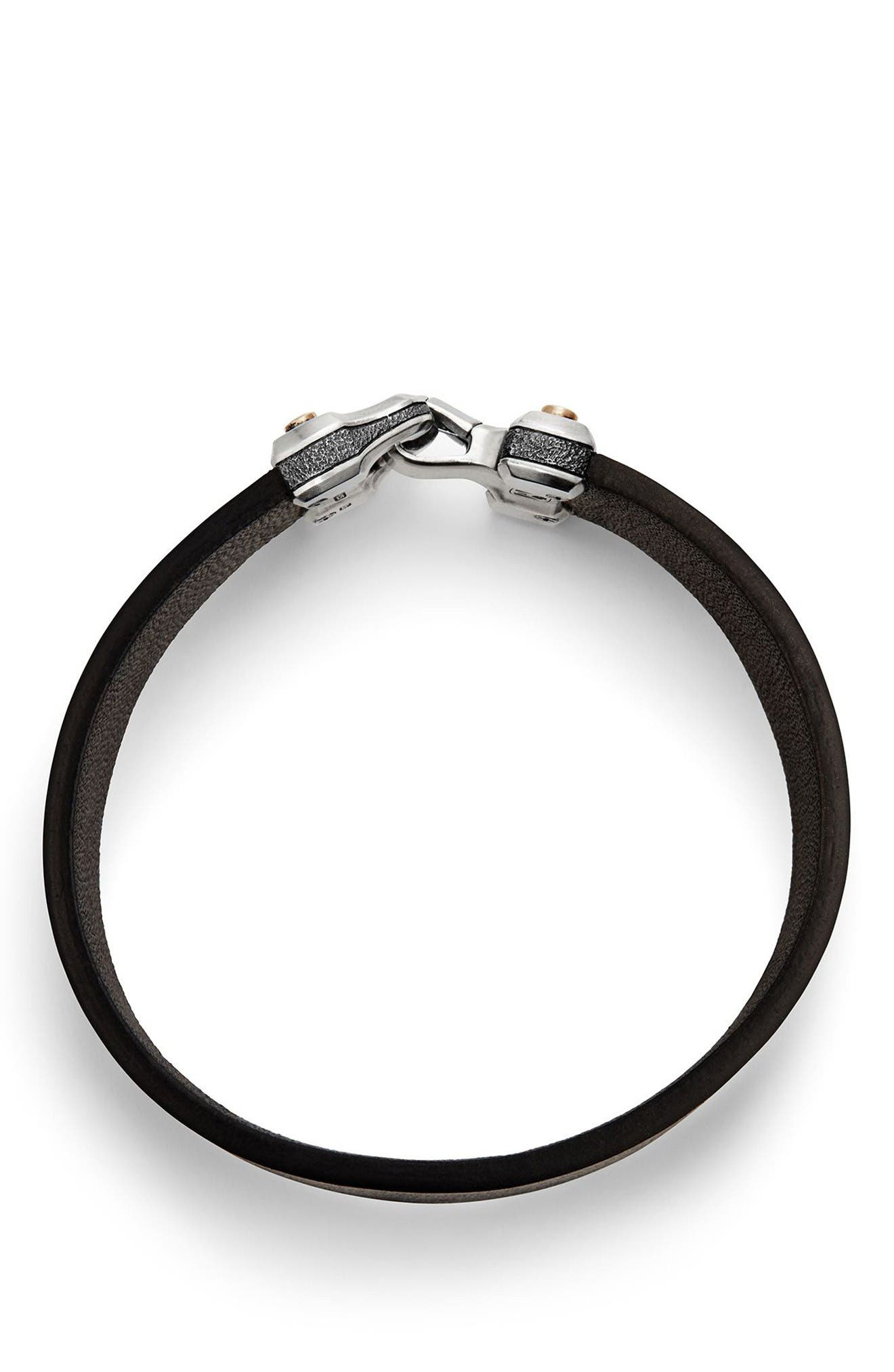 Alternate Image 2  - David Yurman Anvil Leather Bracelet