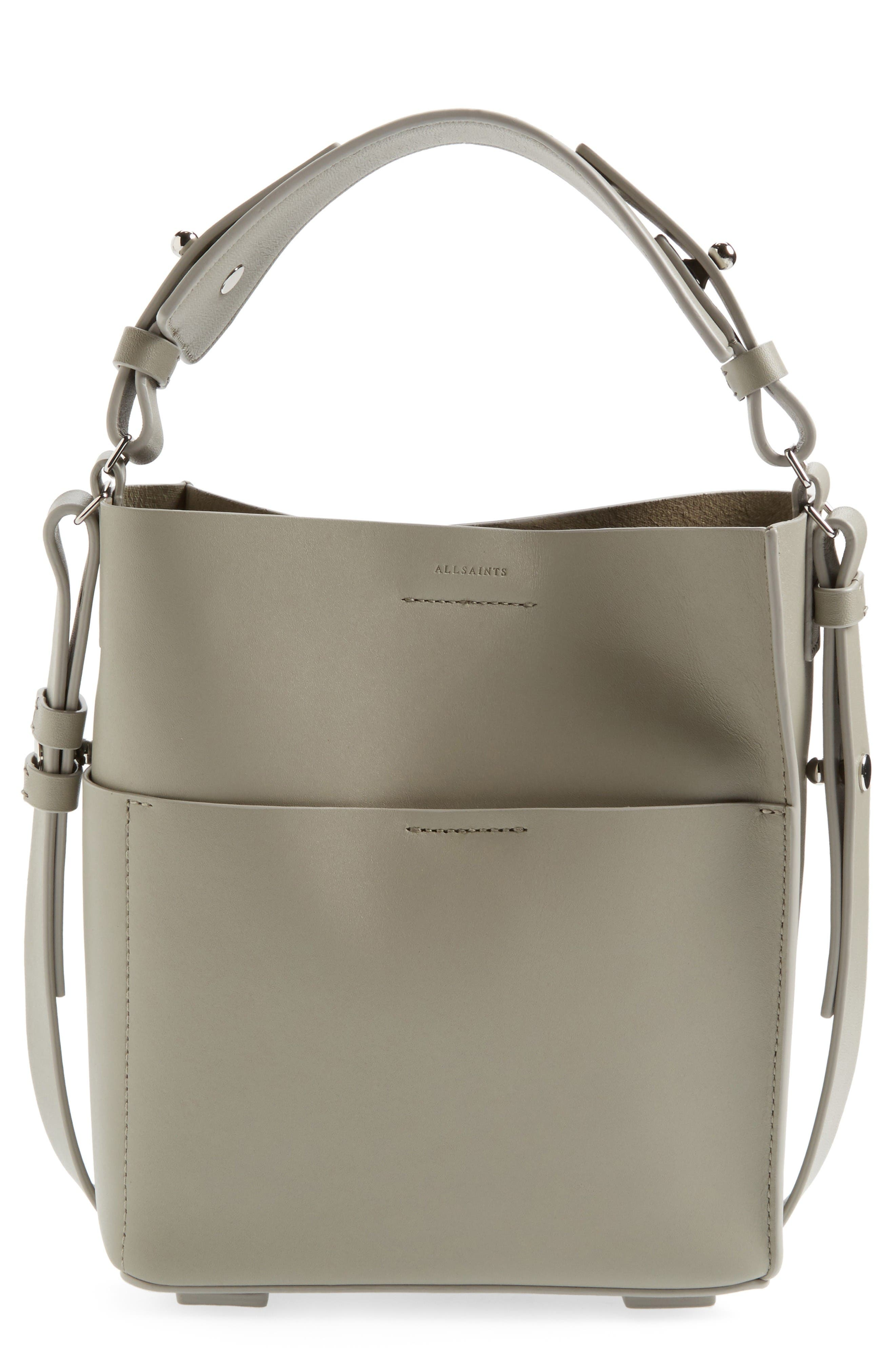 ALLSAINTS Mini Echo Calfskin North/South Tote