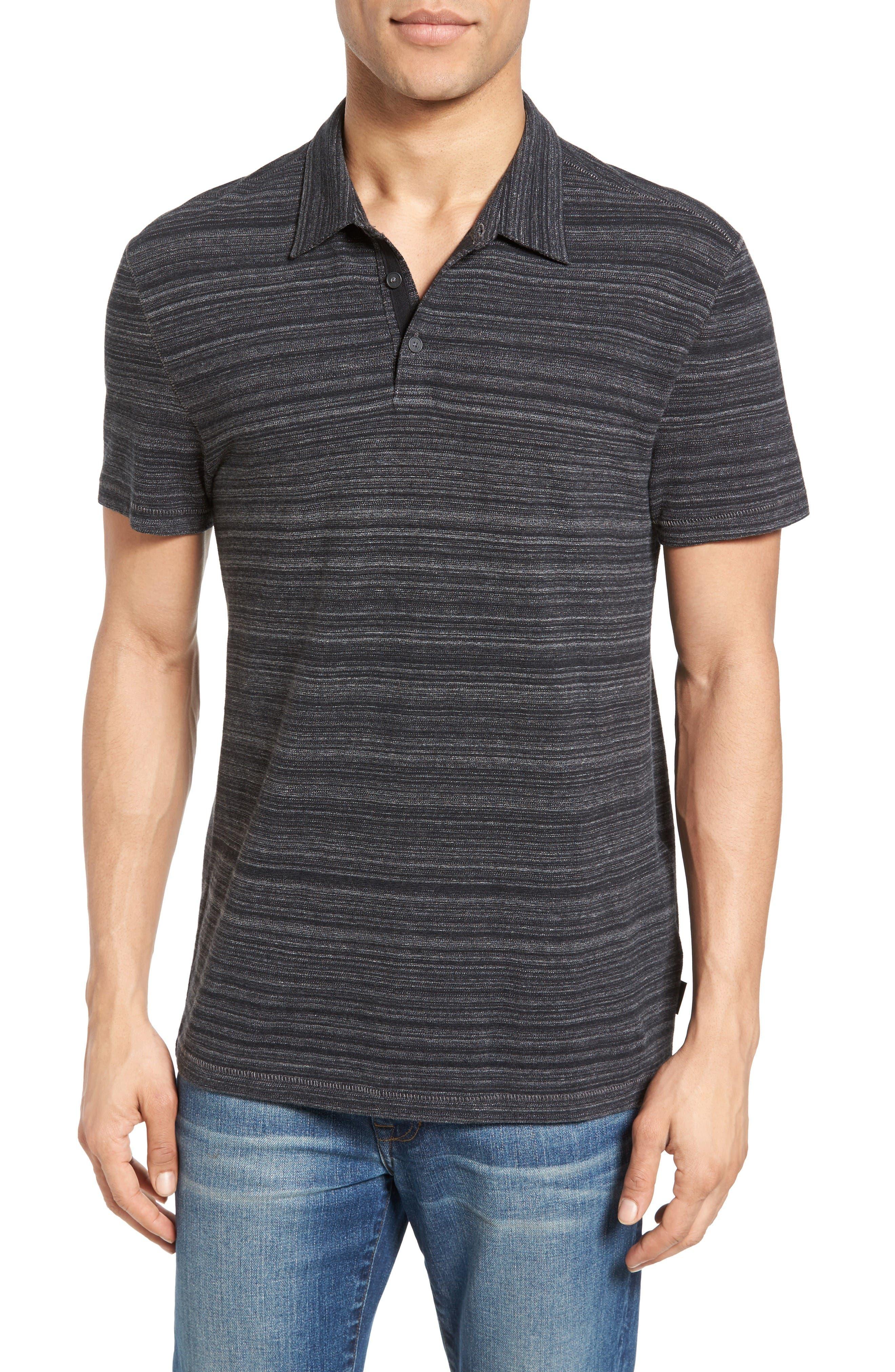 Cotton Polo,                         Main,                         color, Black