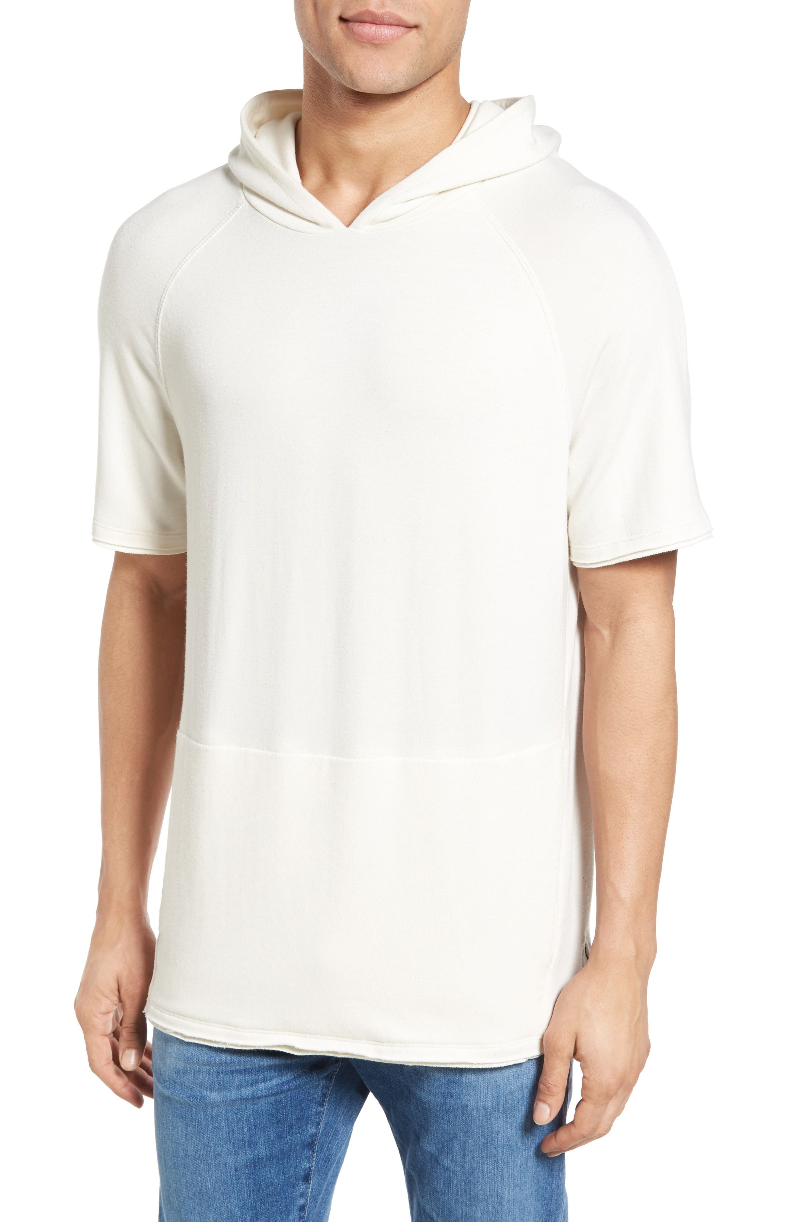 Lawson Short Sleeve Hoodie,                         Main,                         color, White