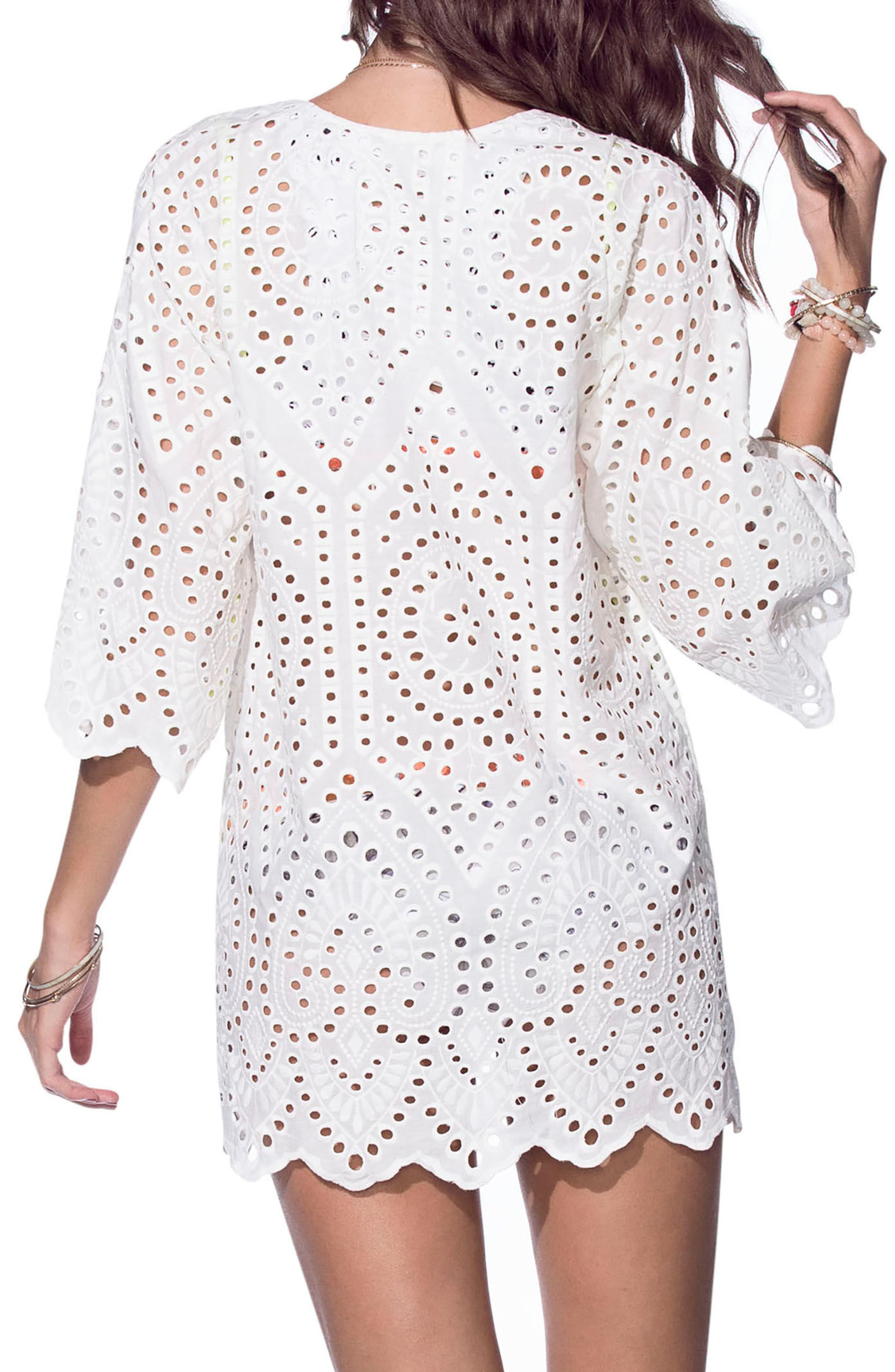 Cheer Y Sway Cover-Up Tunic,                             Alternate thumbnail 2, color,                             White