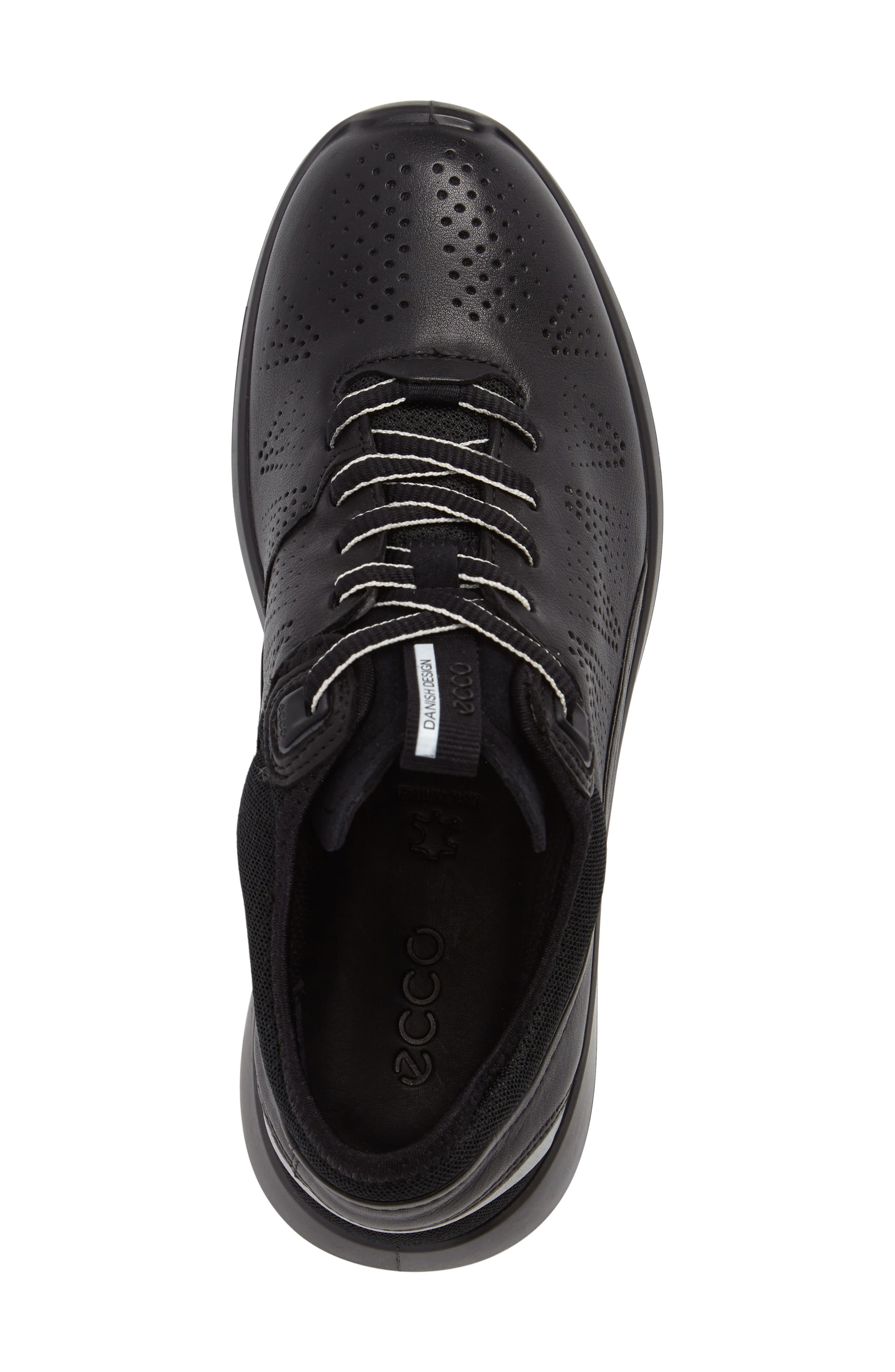 Soft 5 Sneaker,                             Alternate thumbnail 5, color,                             Black Leather