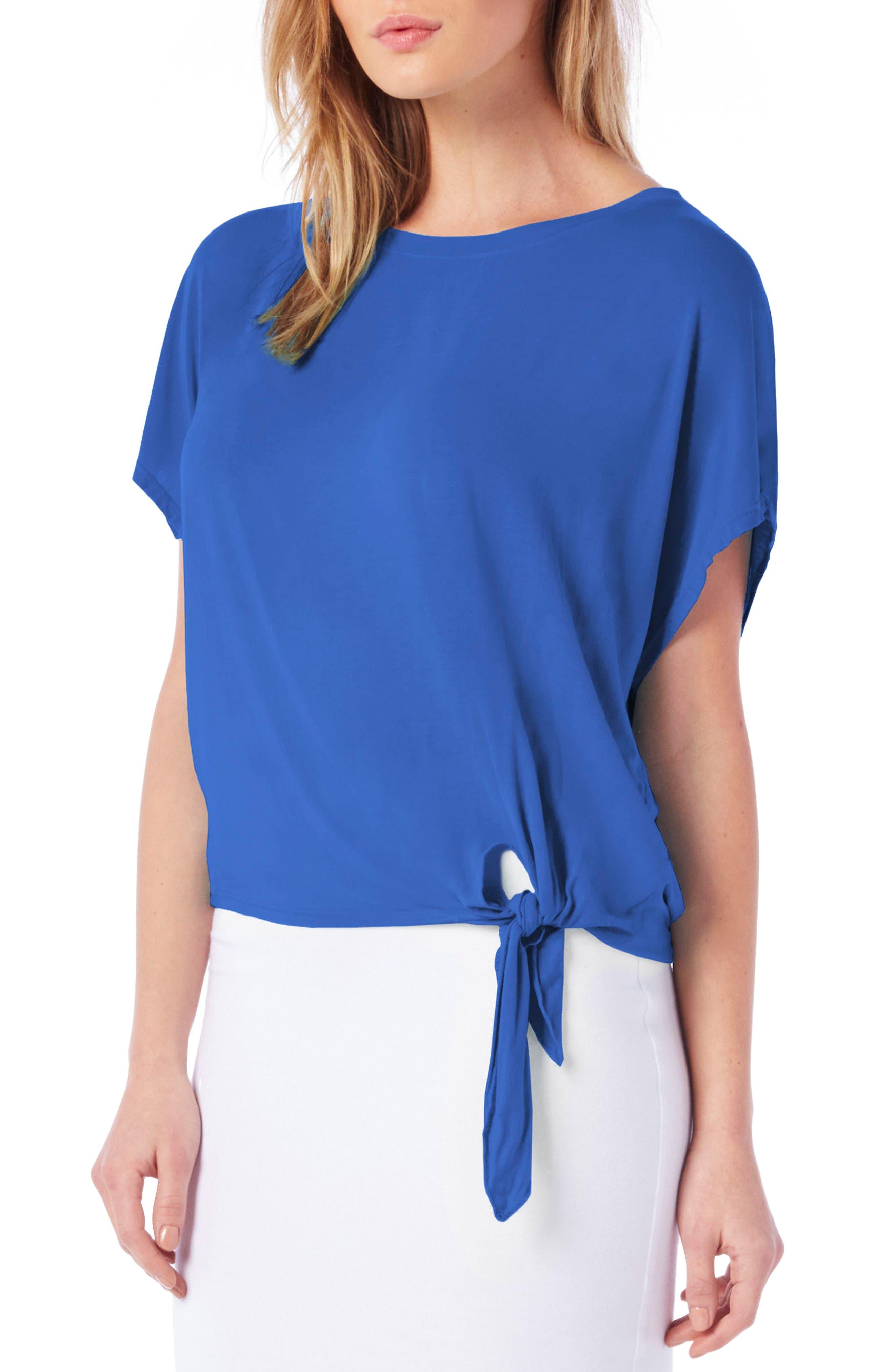 Tie Hem Top,                         Main,                         color, Bayside
