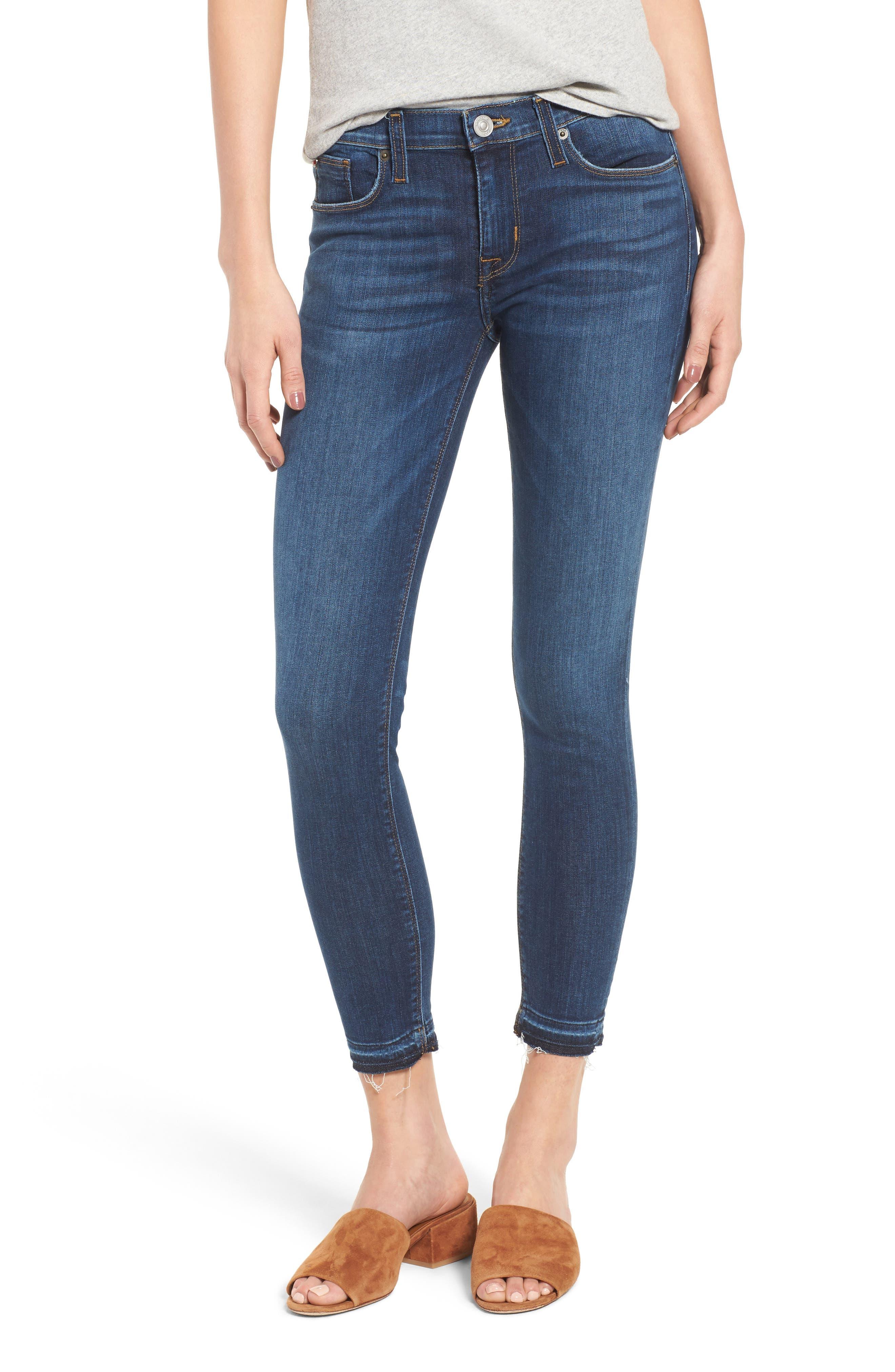 Main Image - Hudson Jeans Krista Crop Super Skinny Jeans (Dream On)