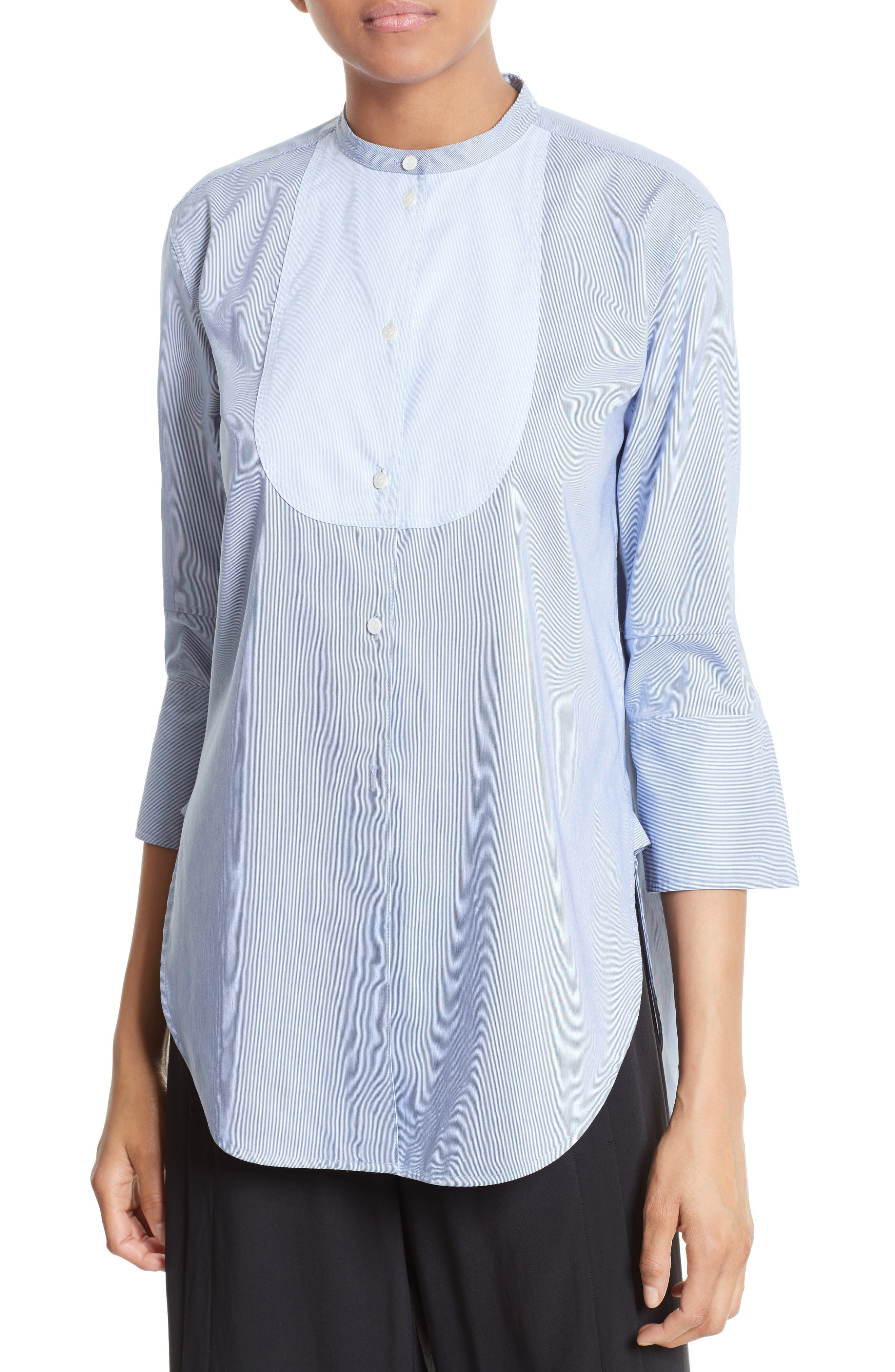 Alternate Image 1 Selected - Helmut Lang Ottoman Tuxedo Shirt
