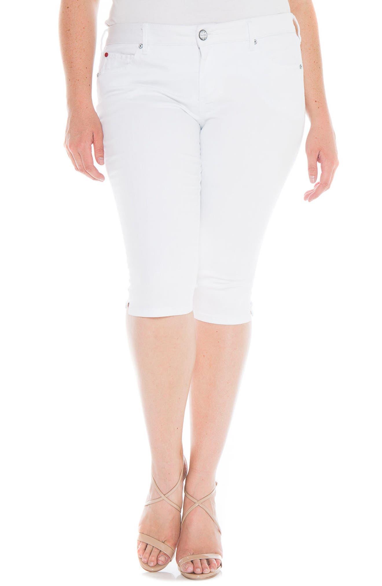 Pirate Skinny Capri Jeans,                             Main thumbnail 1, color,                             White