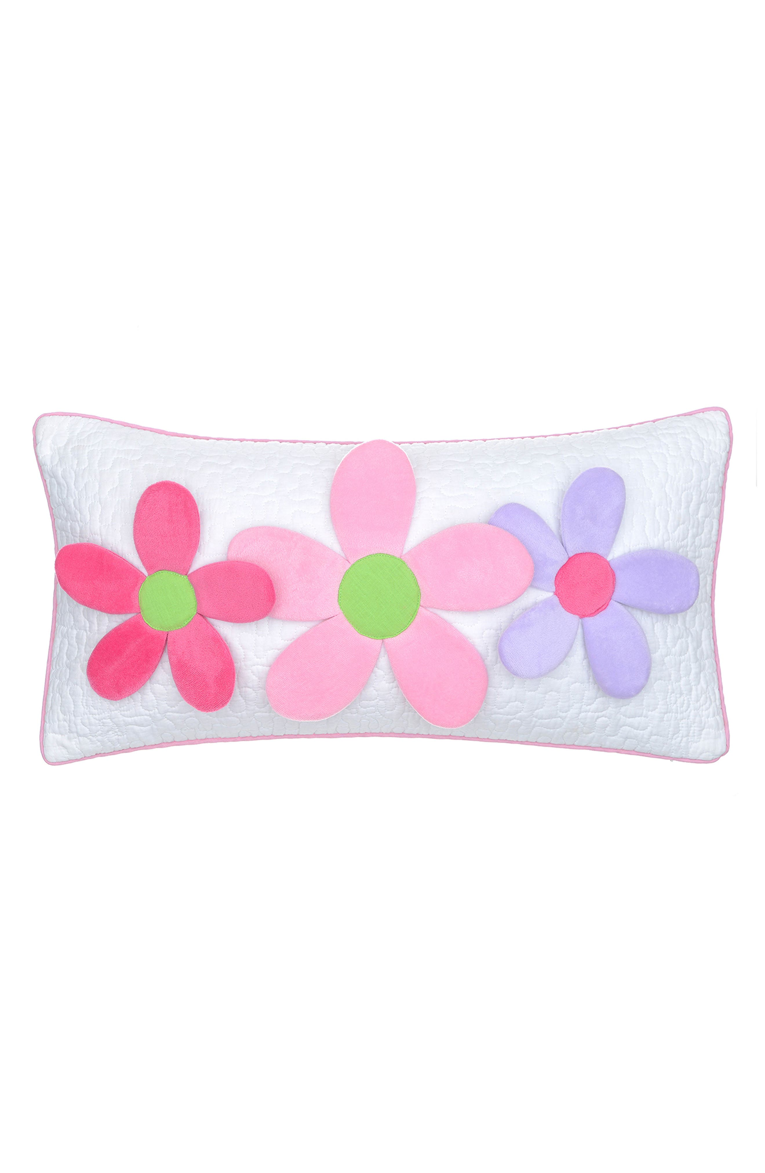 Nina Flowers Accent Pillow,                         Main,                         color, Pink