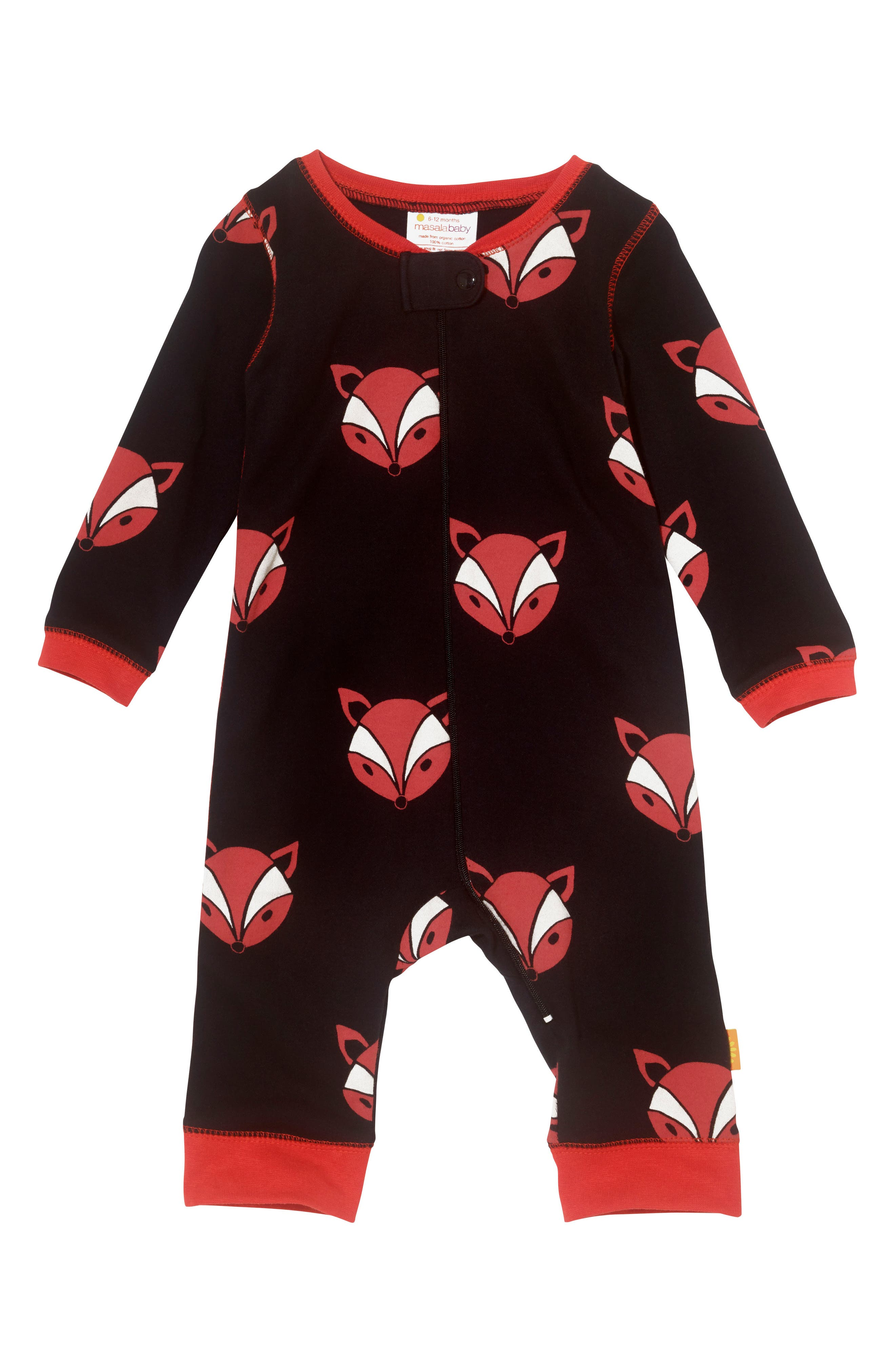 Masalababy Fox Organic Cotton Fitted One-Piece Pajamas (Baby)