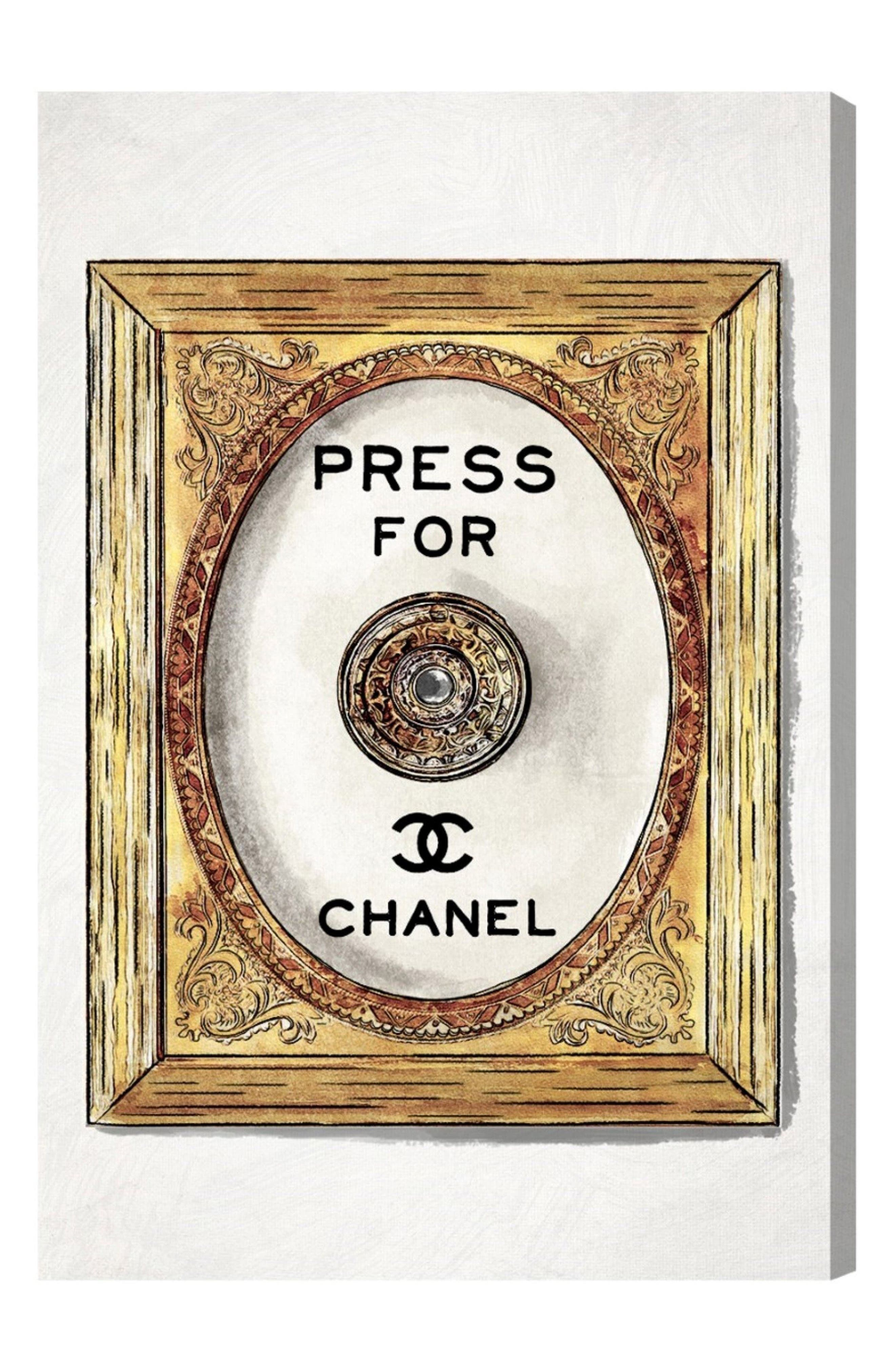 Main Image - Oliver Gal Fancy Doorbell Canvas Wall Art
