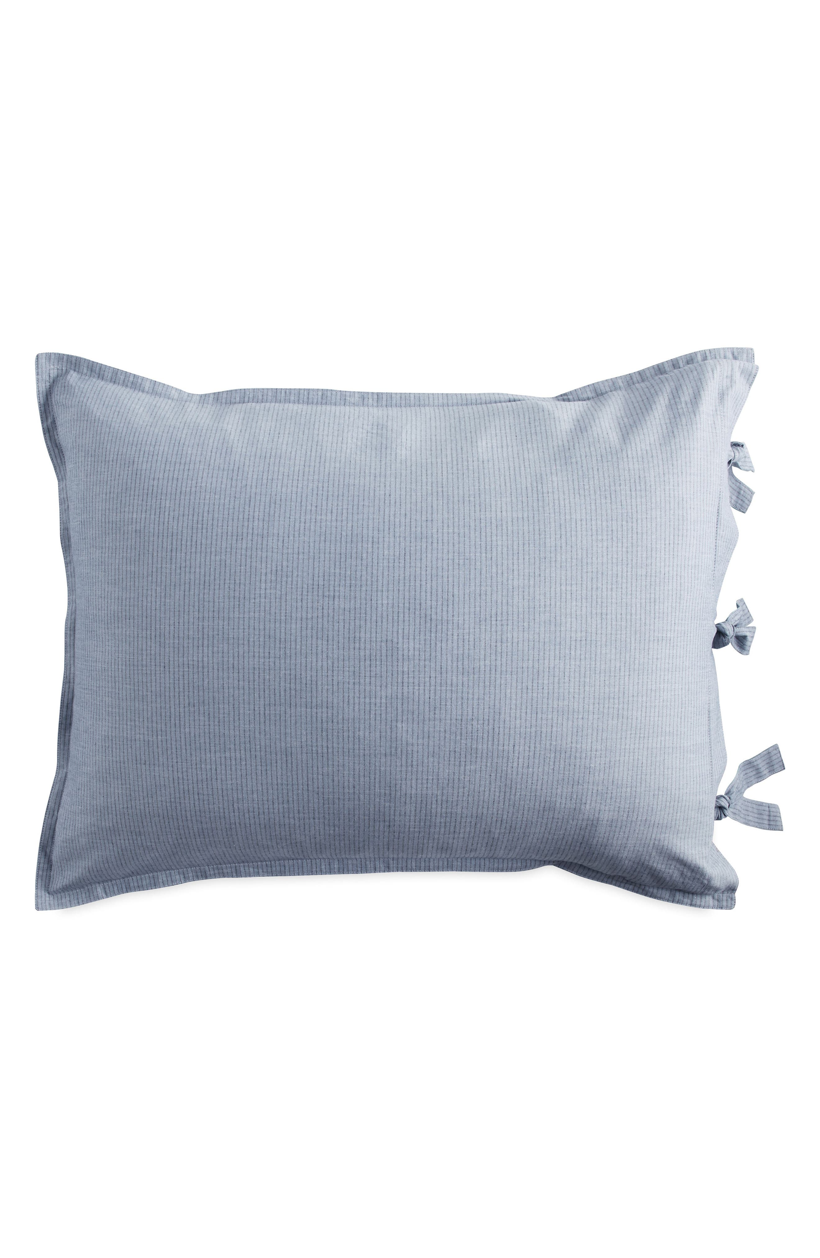 PURE Stripe Pillow Sham,                         Main,                         color, Blue