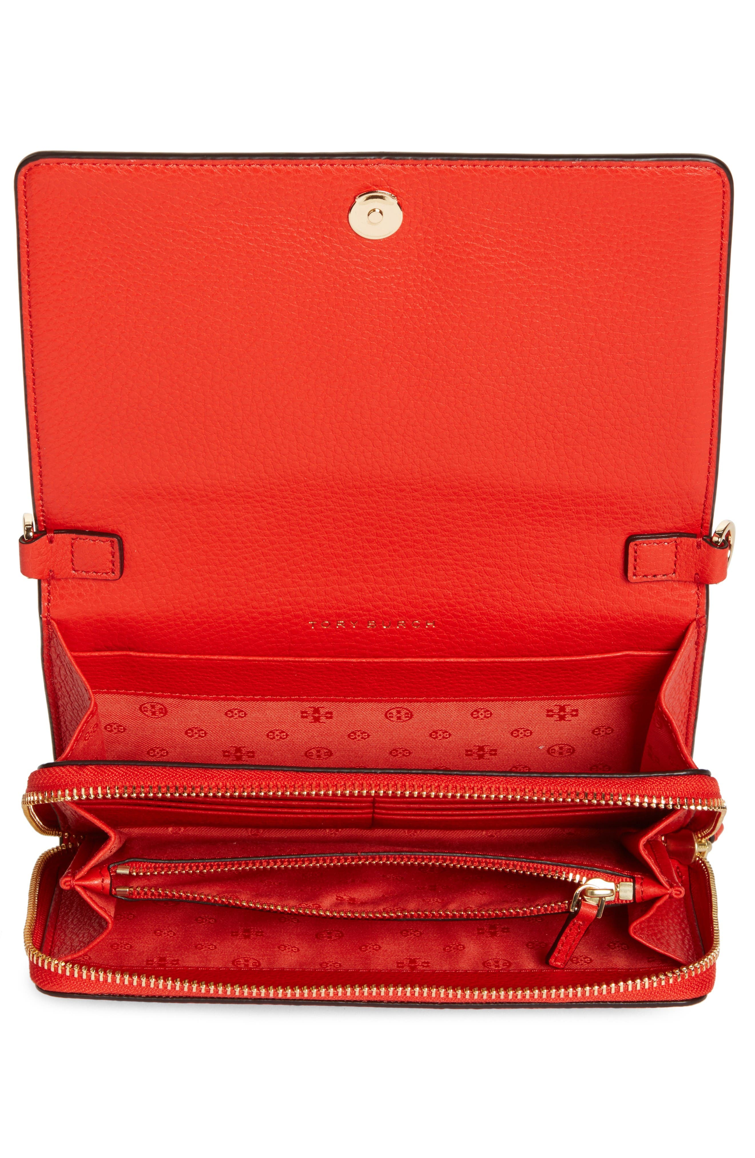 Alternate Image 3  - Tory Burch 'Harper' Pebbled Leather Wallet Crossbody Bag