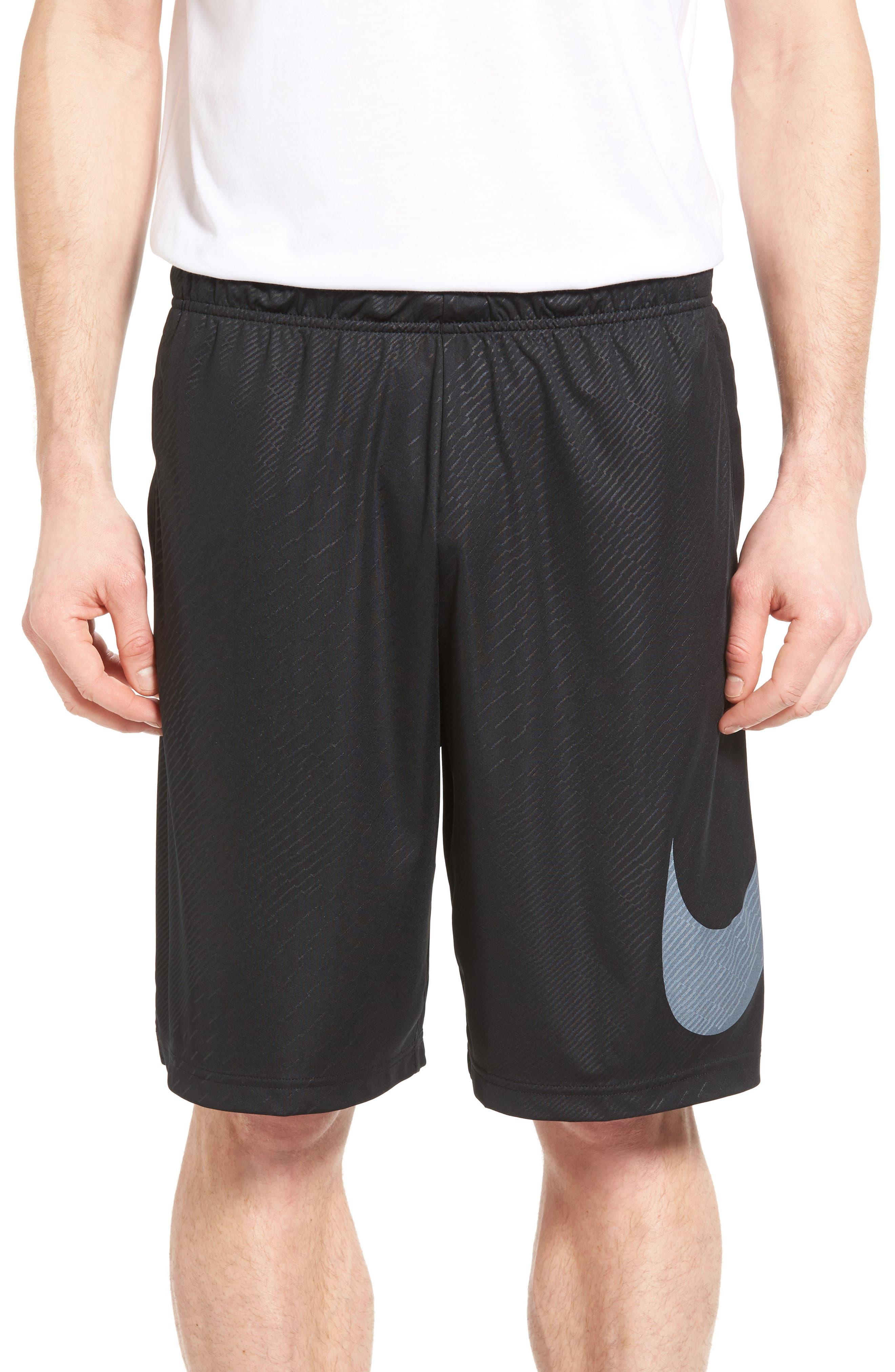 Dry Training Shorts,                         Main,                         color, Black/ White