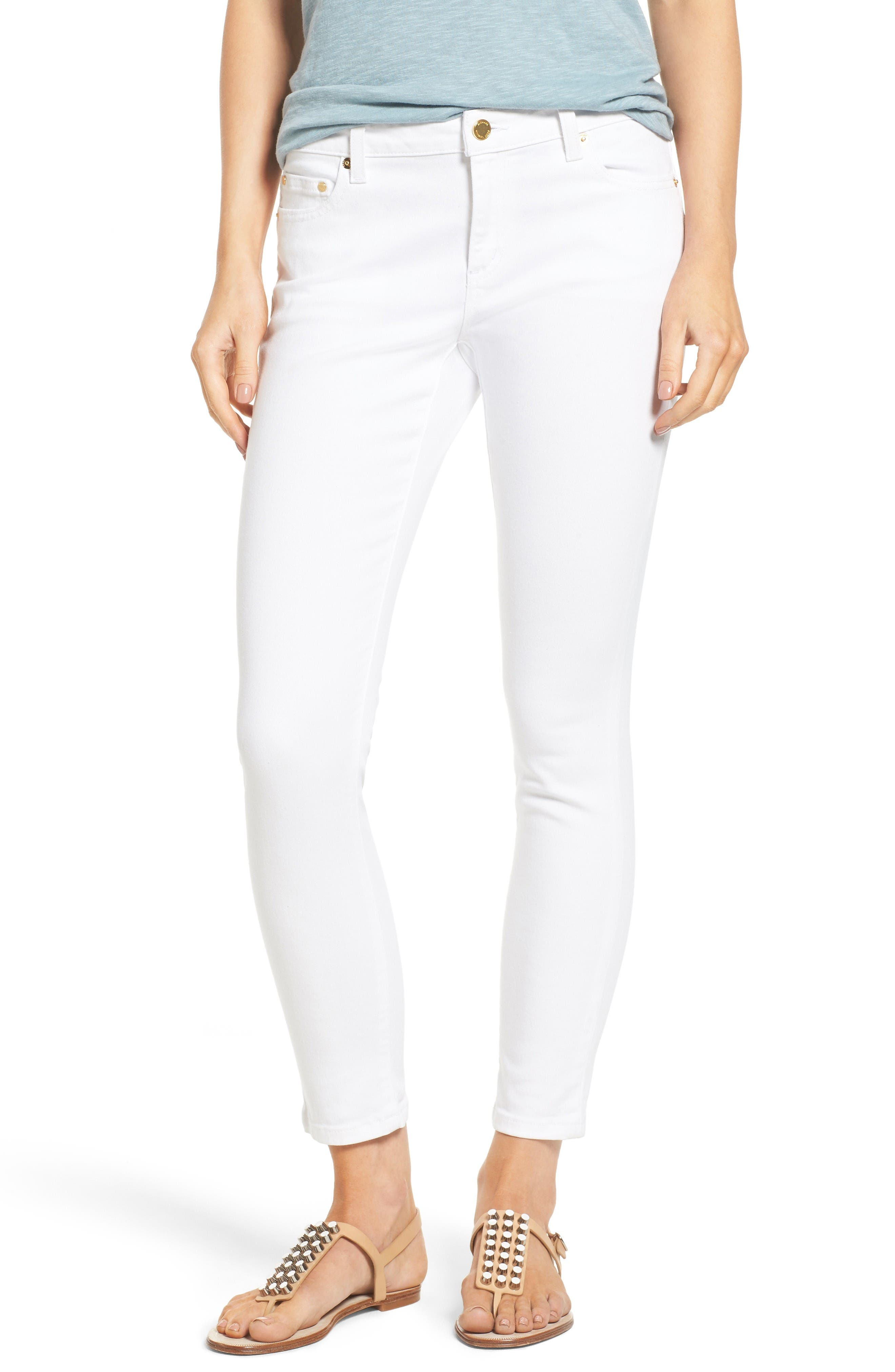 Izzy Ankle Skinny Jeans,                         Main,                         color, White