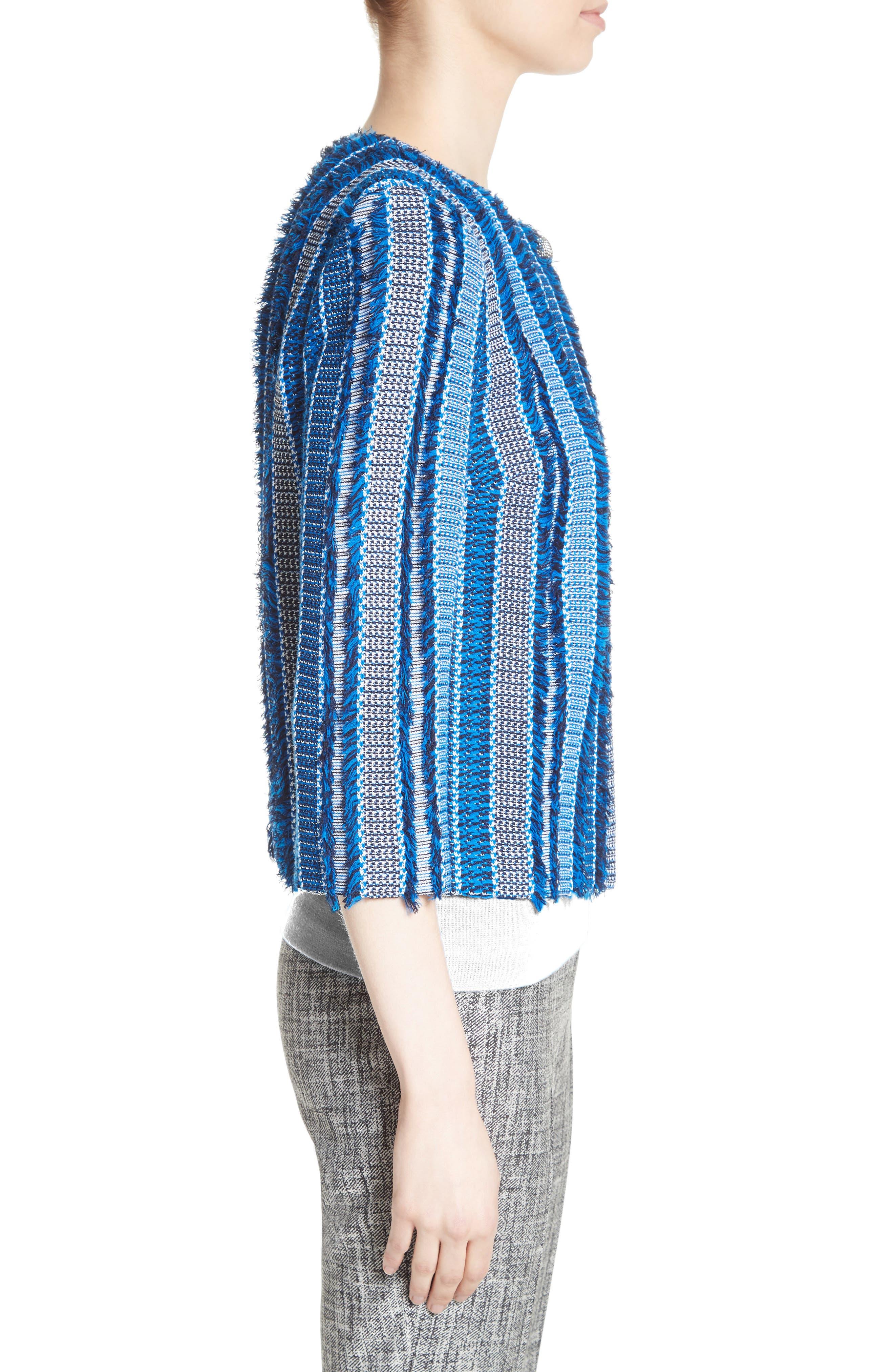 Damik Fil Coupé Knit Jacket,                             Alternate thumbnail 3, color,                             Jaya Blue Multi