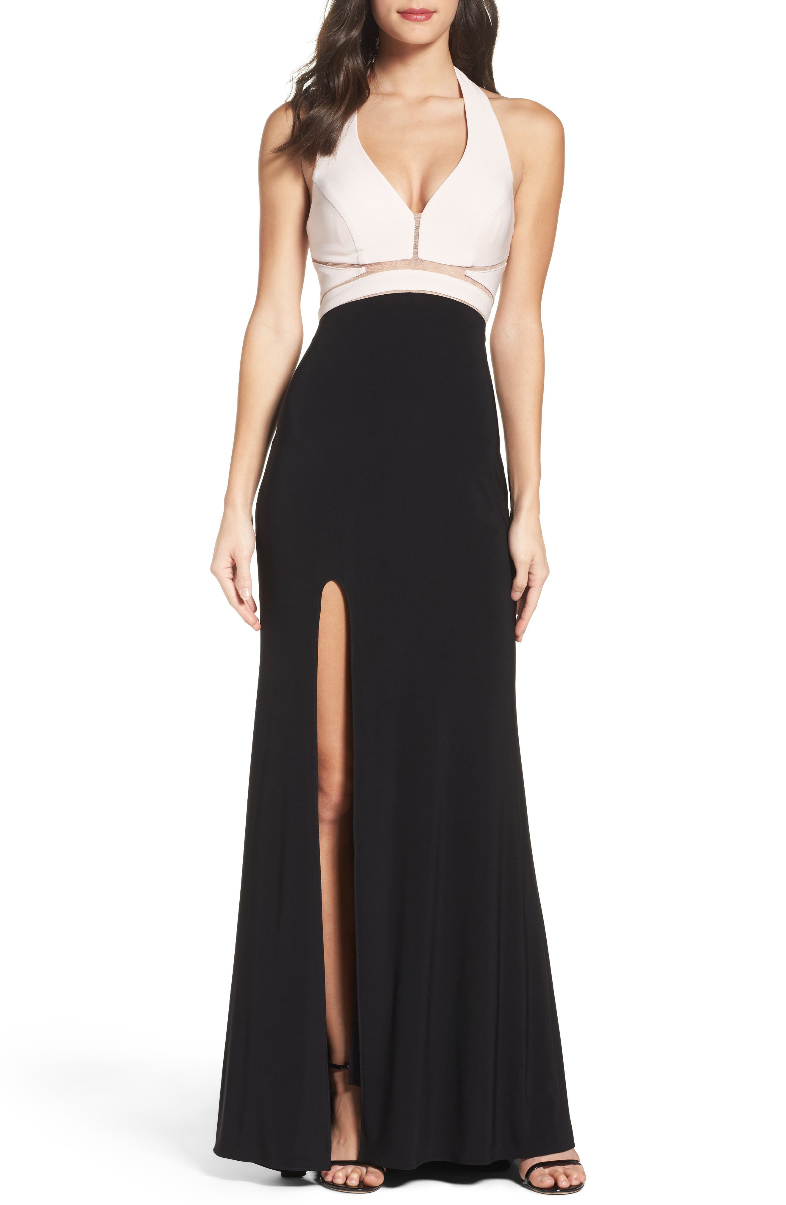 Alternate Image 1 Selected - Xscape Halter Gown
