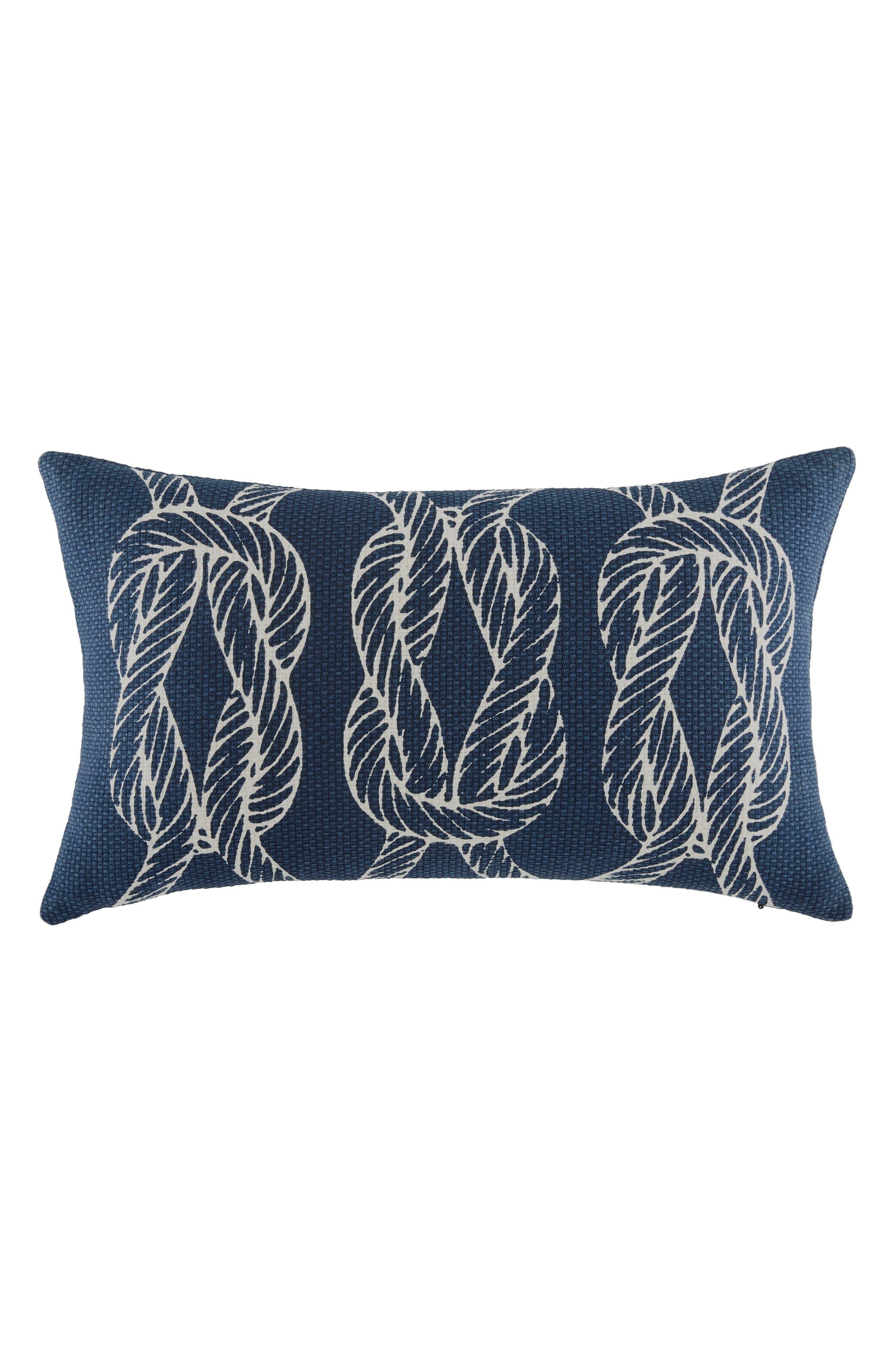 Robinson Knots Pillow,                             Main thumbnail 1, color,                             Navy