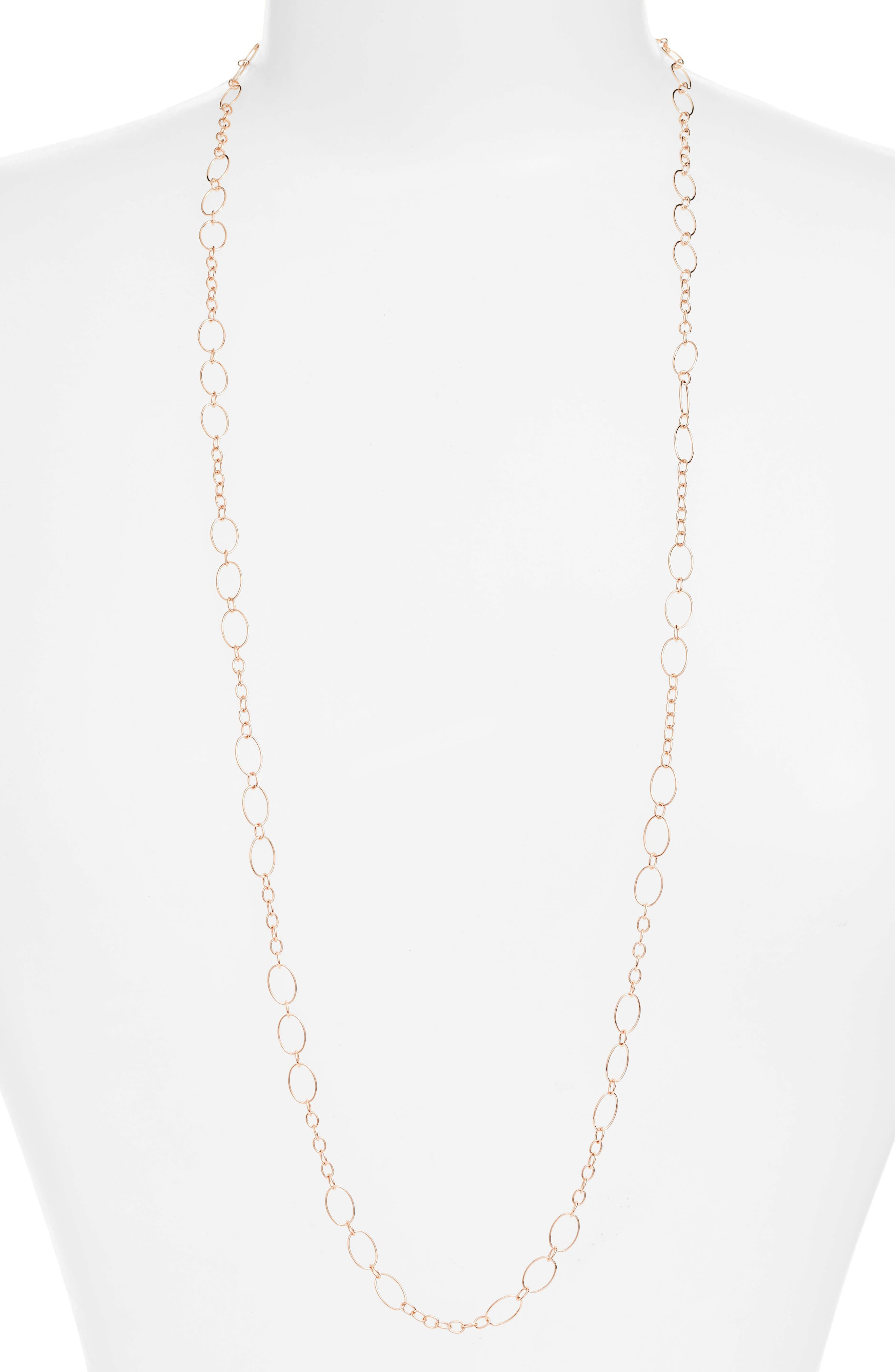 36-Inch Layering Chain,                             Main thumbnail 1, color,                             Rose Gold