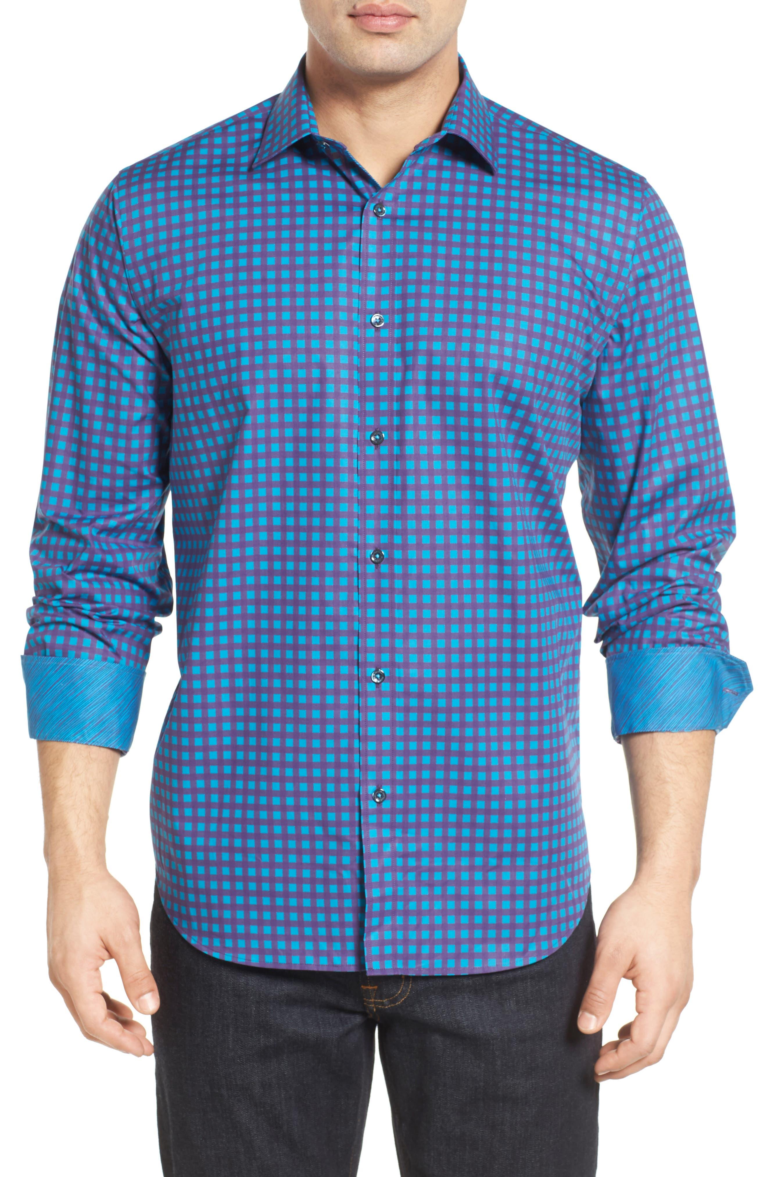 Classic Fit Sport Shirt,                         Main,                         color, Plum