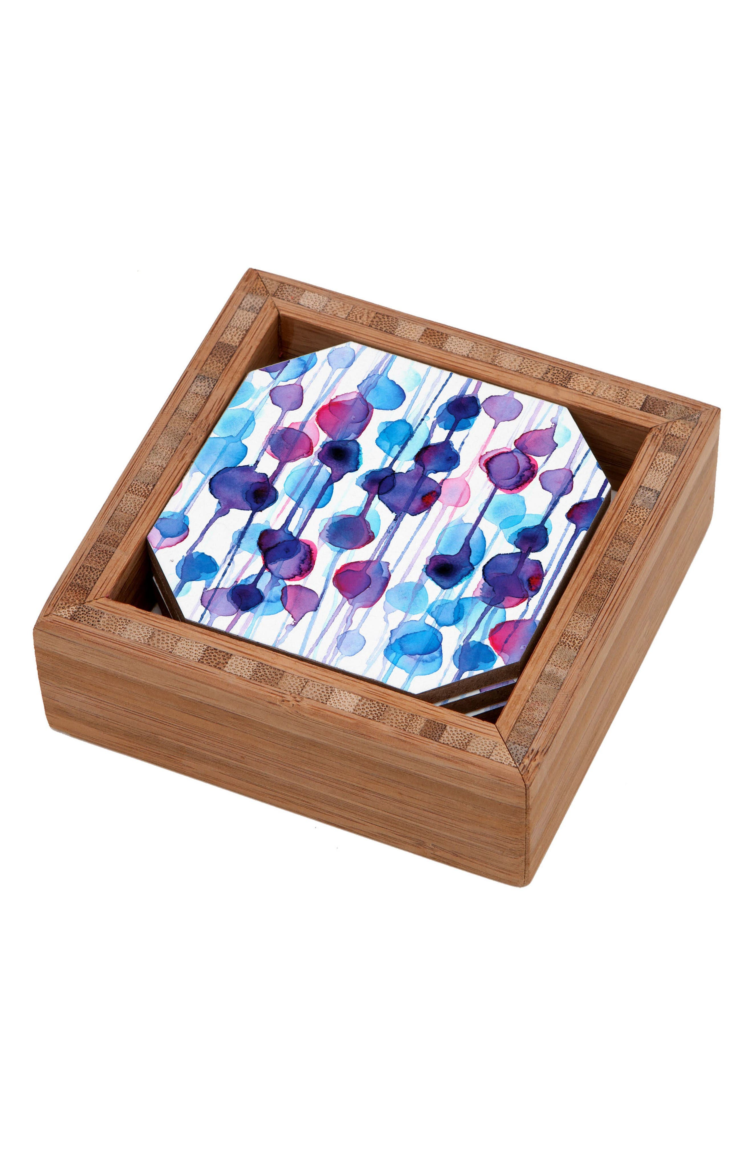 Abstract Set of 4 Coasters,                         Main,                         color, Blue