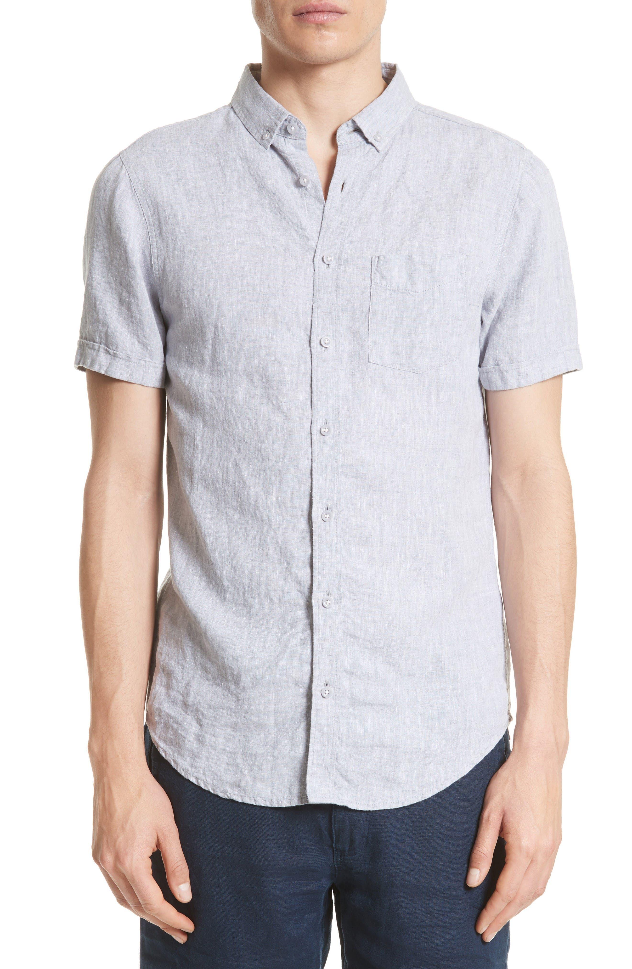 ONIA Trim Fit Linen Shirt