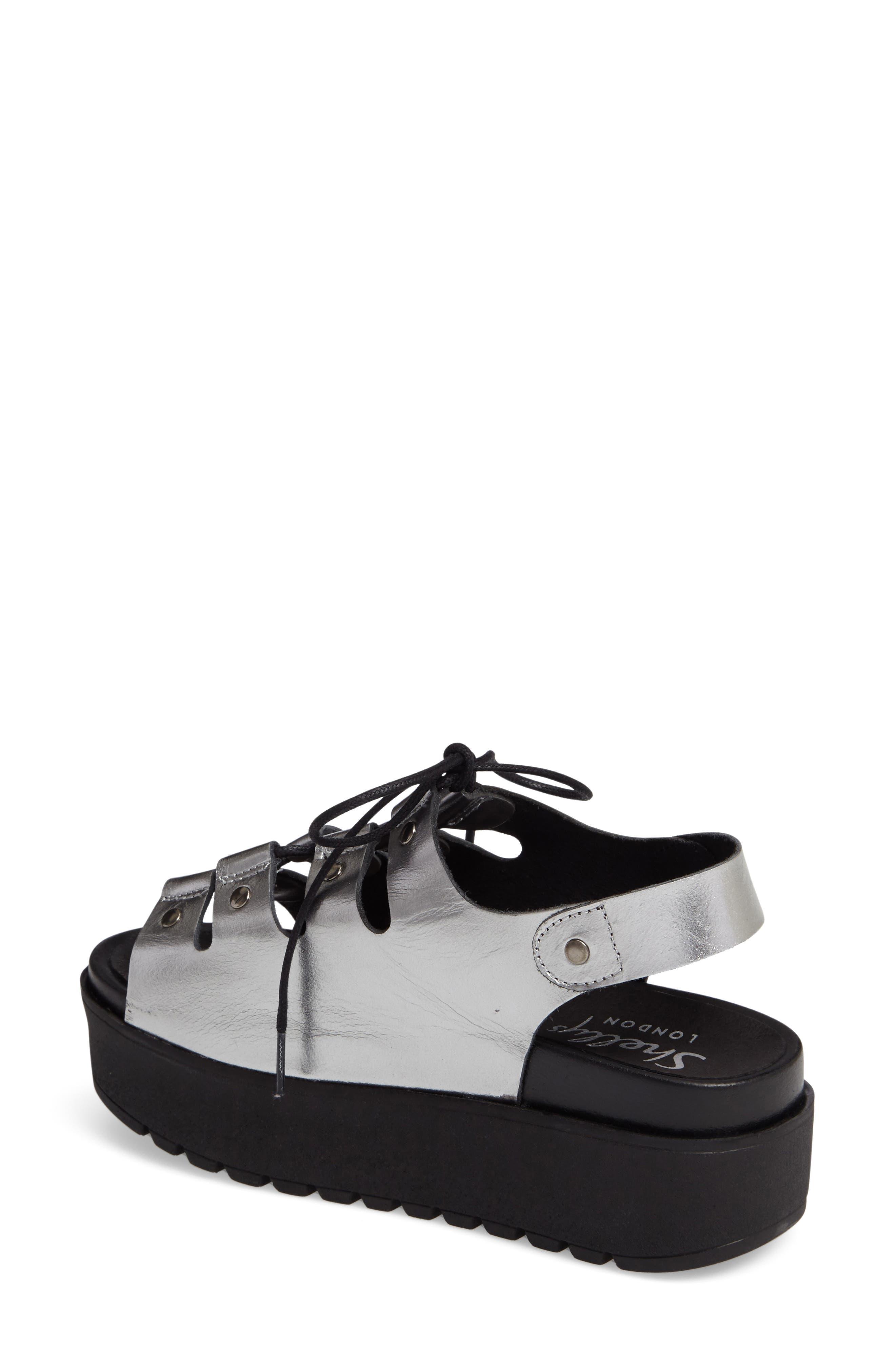 Kacey Platform Sandal,                             Alternate thumbnail 2, color,                             Pewter