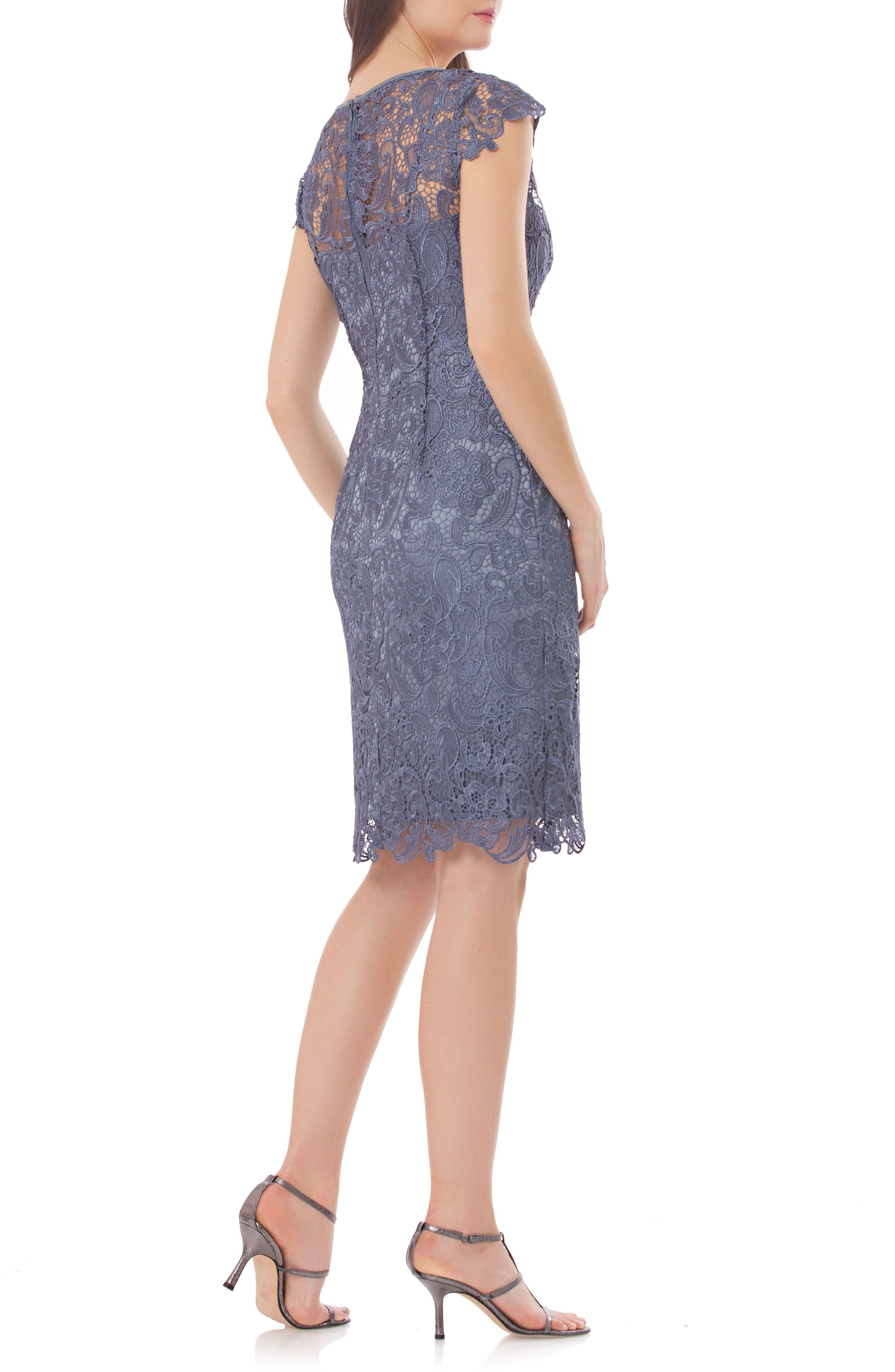 JS COLLECTIONS Lace Sheath Dress