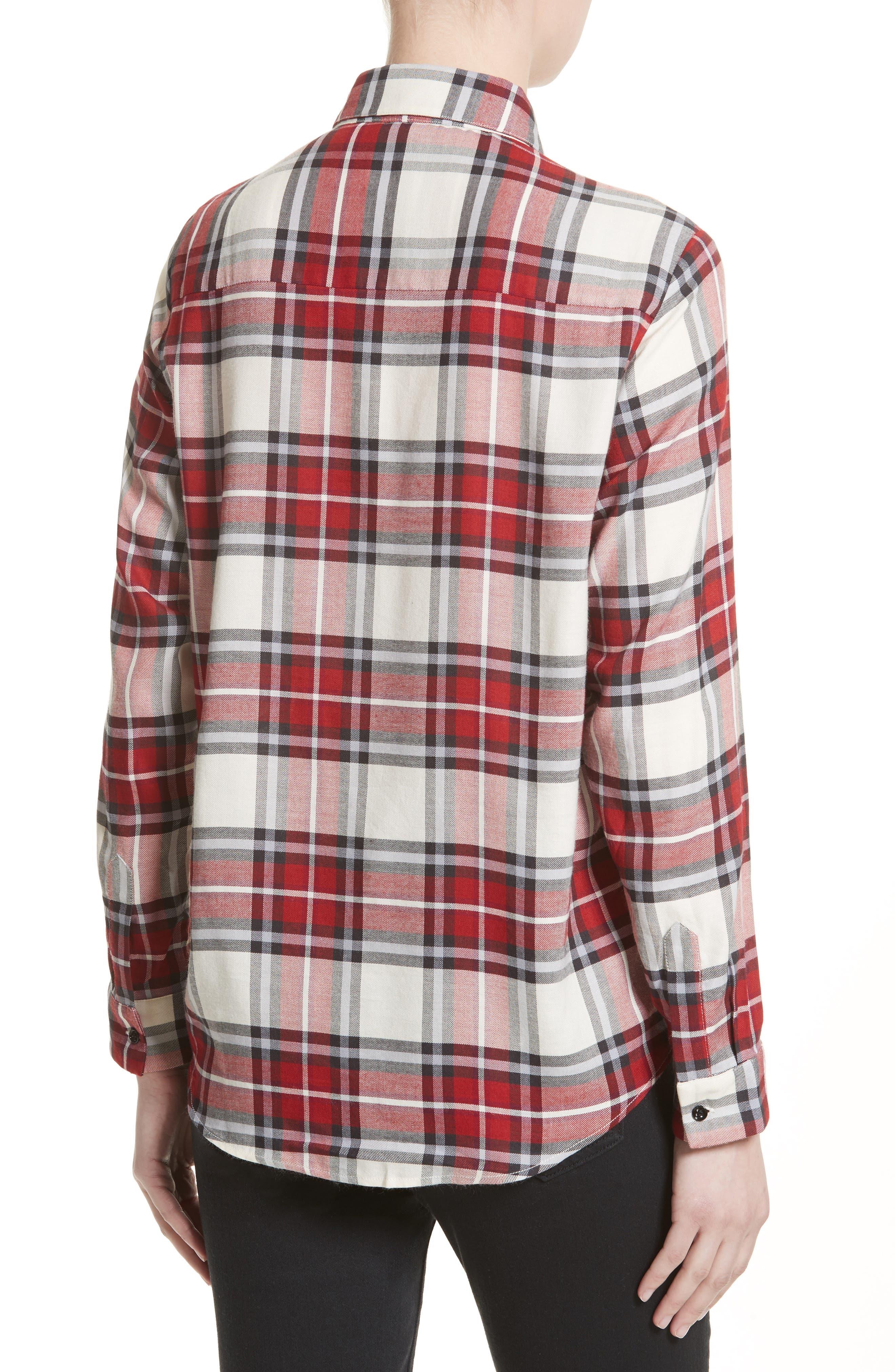 Alternate Image 2  - The Kooples Plaid Flannel Shirt