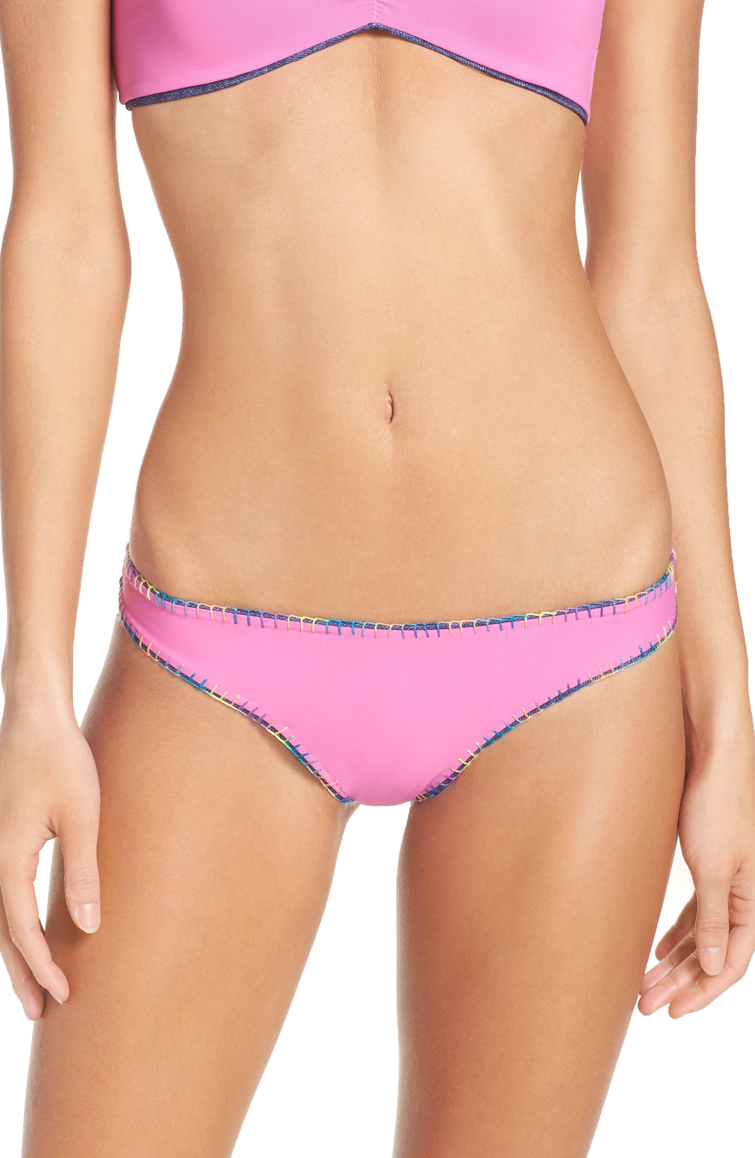 Reversible Bikini Bottoms,                             Alternate thumbnail 3, color,                             Cayman