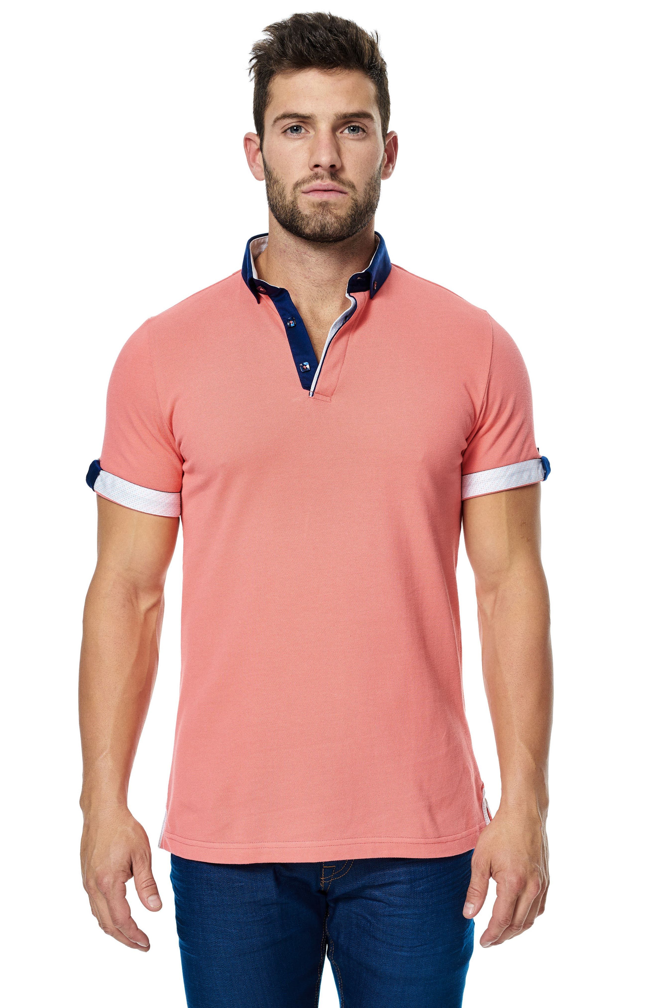 Alternate Image 3  - Maceoo Contrast Piqué Polo